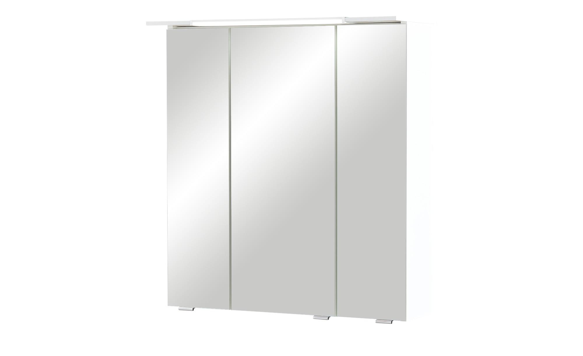 smart Bad-Spiegelschrank - weiß - 65 cm - 70 cm - 16 cm - Schränke > Badschränke > Spiegelschränke - Möbel Kraft   Bad > Spiegel fürs Bad > Badspiegel   smart