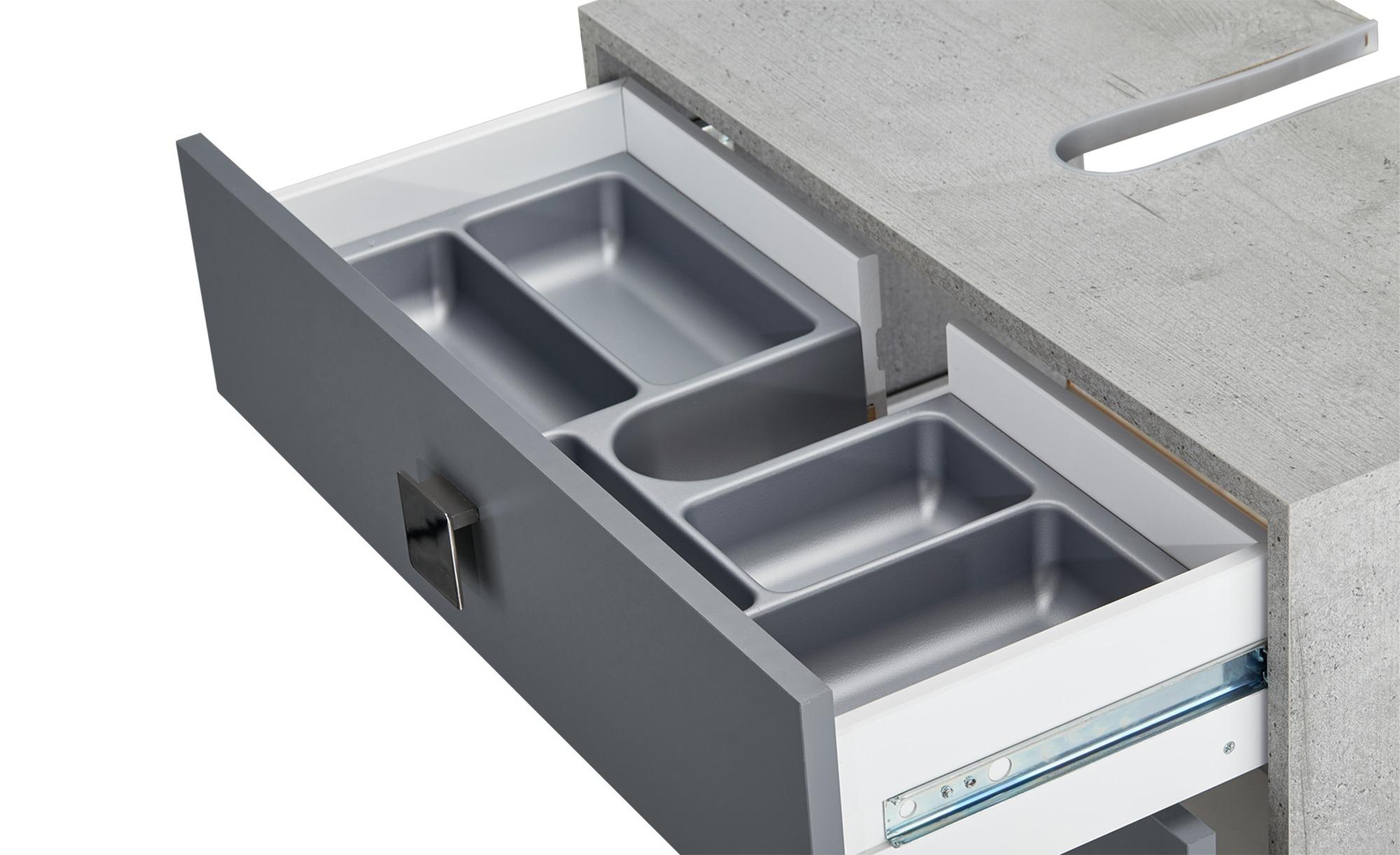 Waschbeckenunterschrank   Basaltgrau / Stein-Optik (Nachbildung)