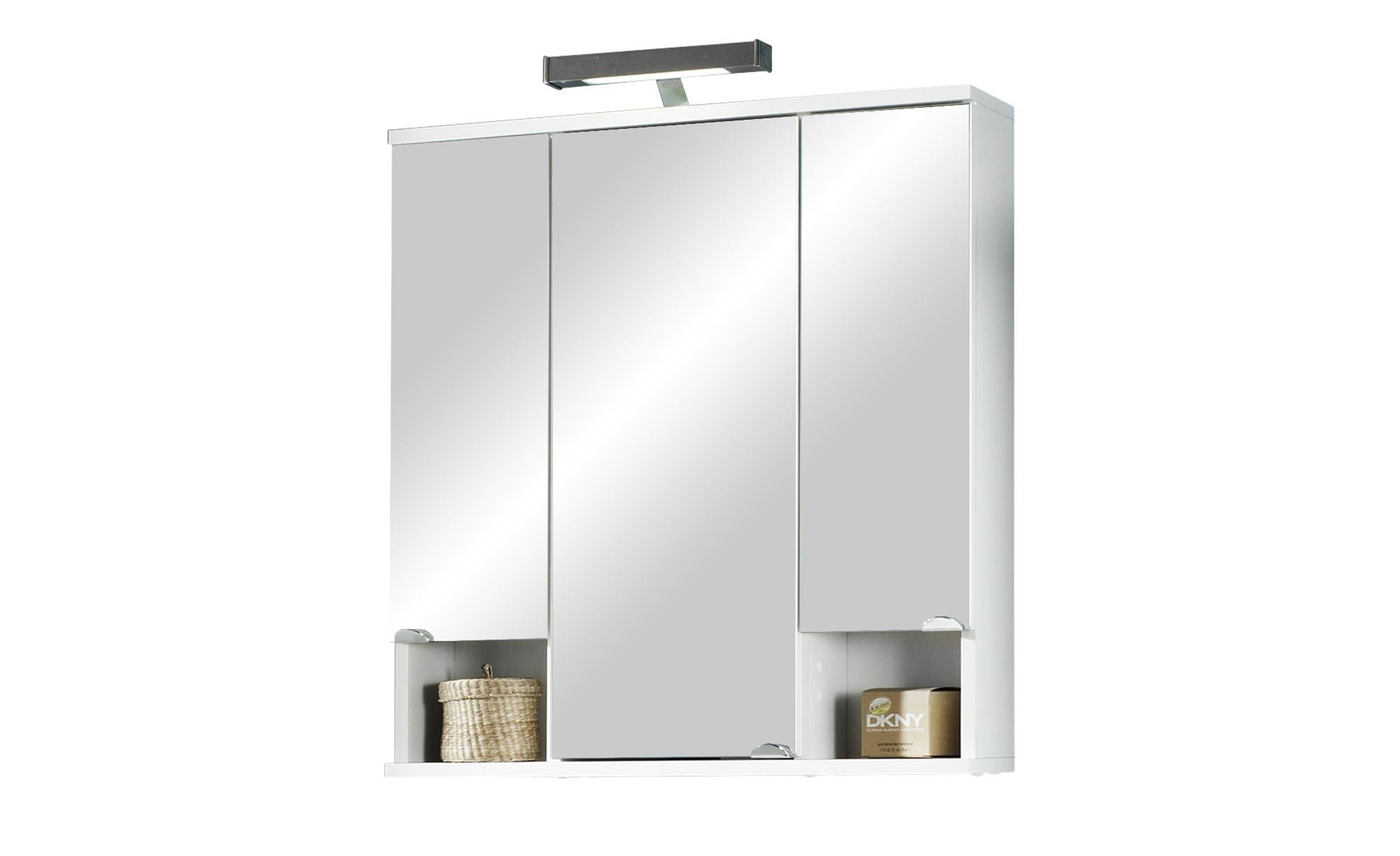 Bad-Spiegelschrank 3-türig - 67 cm - 73 cm - 16,5 cm - Schränke > Badschränke > Spiegelschränke - Möbel Kraft   Bad > Spiegel fürs Bad > Badspiegel   Möbel Kraft