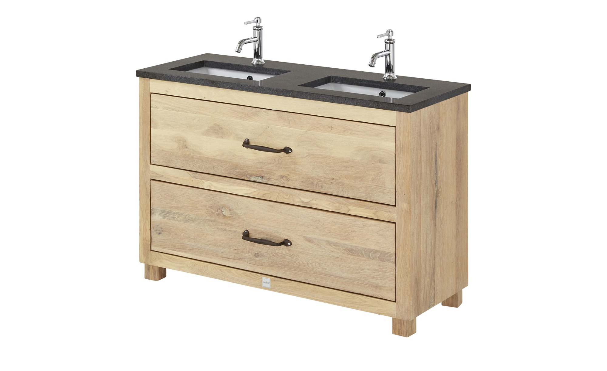 VAN HECK Waschtischkombination - holzfarben - 133 cm - 91 cm - 51,5 cm -  Schränke > Badschränke > Komplett-Badkombinationen - Möbel Kraft