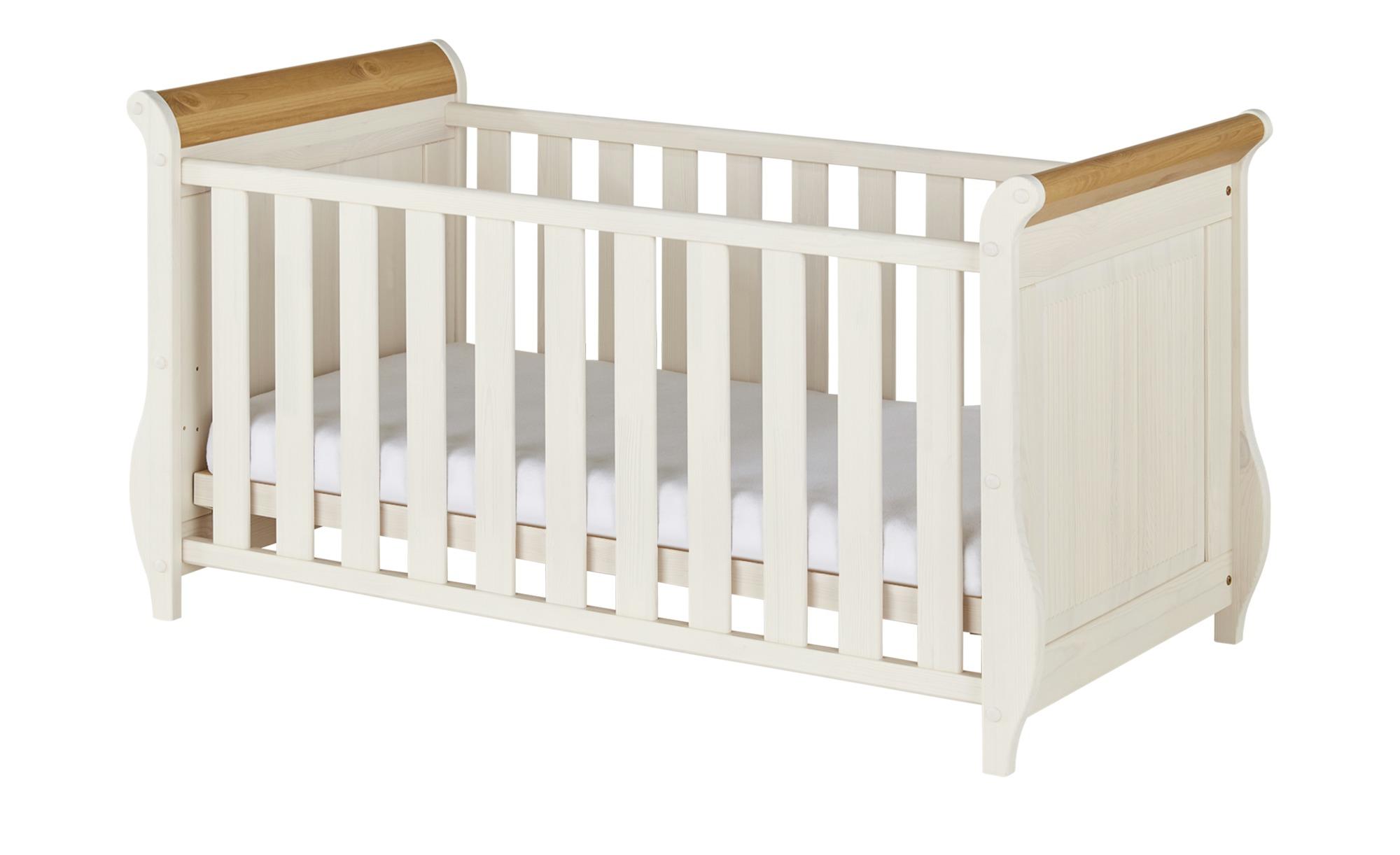 Babybett - weiß - 75 cm - 84 cm - Baby > Babymöbel > Babybetten - Möbel Kraft | Kinderzimmer > Babymöbel > Babybetten & Babywiegen | Sconto