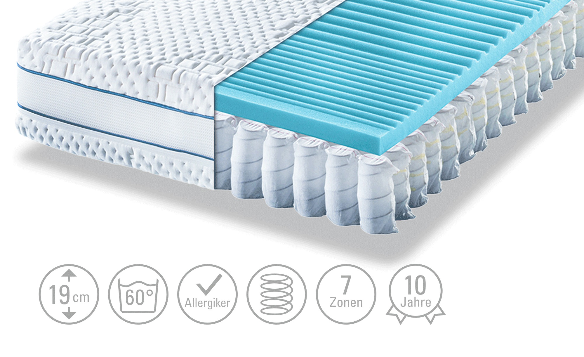 Move Tonnentaschenfederkern Matratze Move Aqua Med T 90 Cm 200 Cm