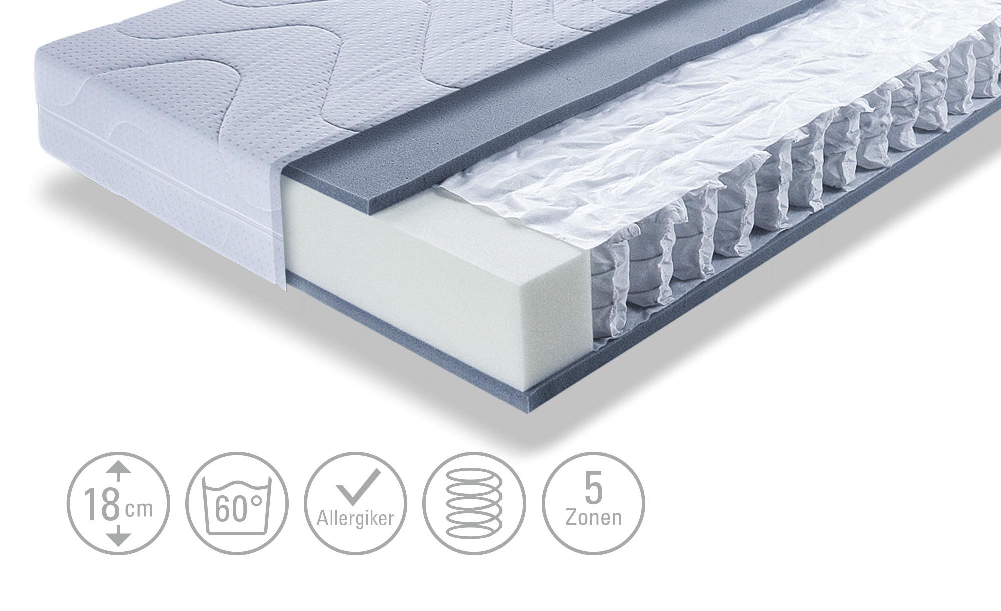Dreamer eXpress Tonnentaschenfederkernmatratze - weiß - 80 cm - 18 cm - Matratzen & Zubehör > Federkernmatratzen - Möbel Kraft | Schlafzimmer > Matratzen > Federkernmatratzen | Dreamer eXpress