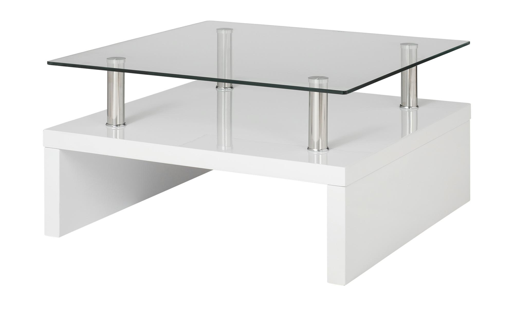 Couchtisch weiß Metall Glas, gefunden bei Möbel Kraft