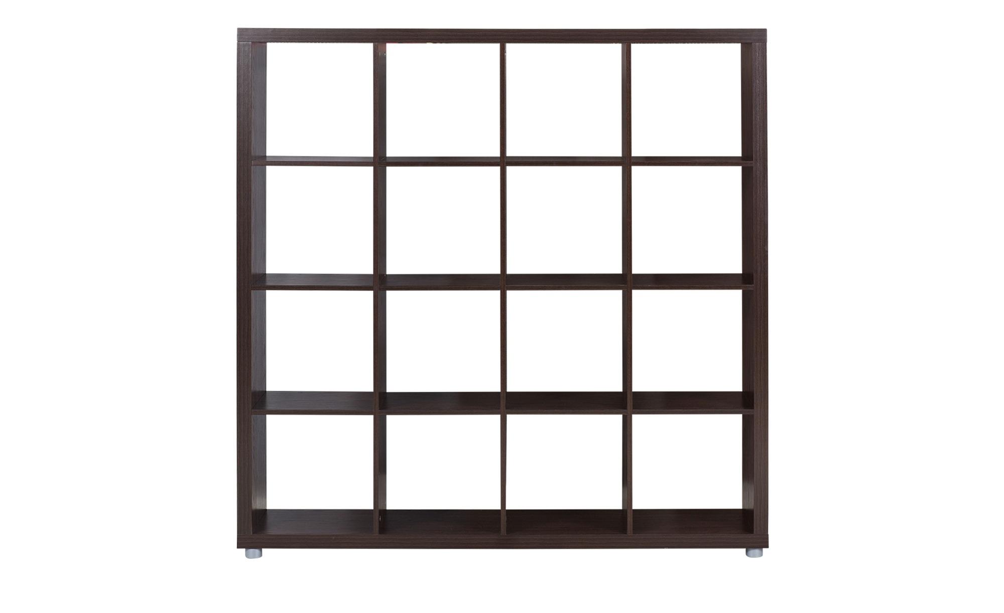 Raumteiler 4x4 - holzfarben - 150 cm - 150 cm - 35 cm - Regale > Büroregale - Möbel Kraft | Büro > Büroregale > Standregale | Holzfarben | Sconto