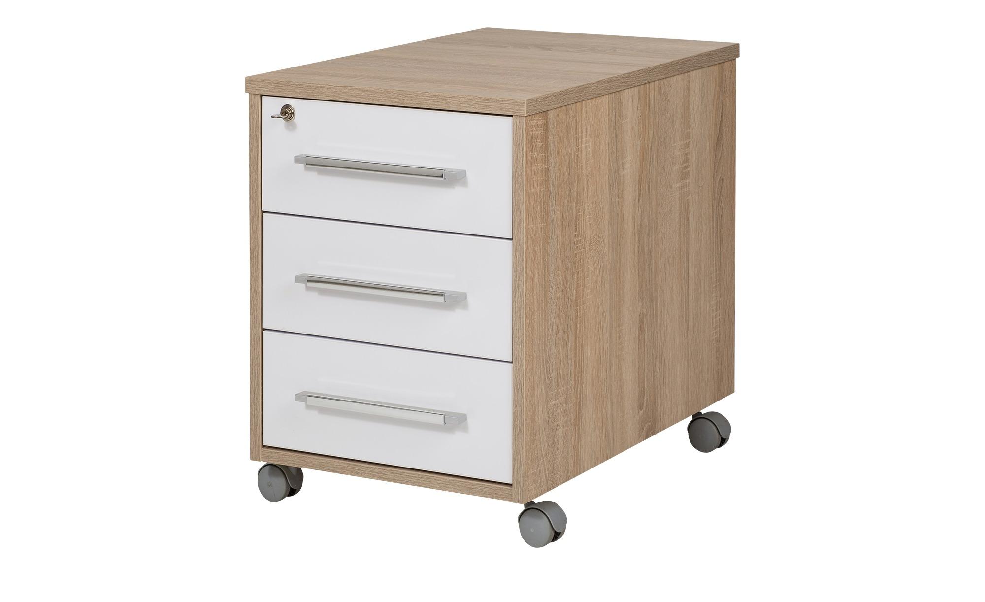 Rollcontainer - holzfarben - 43 cm - 59 cm - 65 cm - Schränke > Rollcontainer - Möbel Kraft | Büro > Büroschränke > Rollcontainer | Möbel Kraft