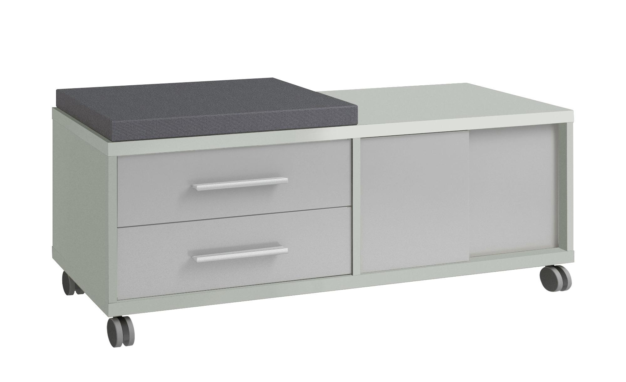 Rollcontainer mit Sitzkissen - grau - 133 cm - 54,5 cm - 40 cm - Schränke > Rollcontainer - Möbel Kraft | Büro > Büroschränke > Rollcontainer | Möbel Kraft