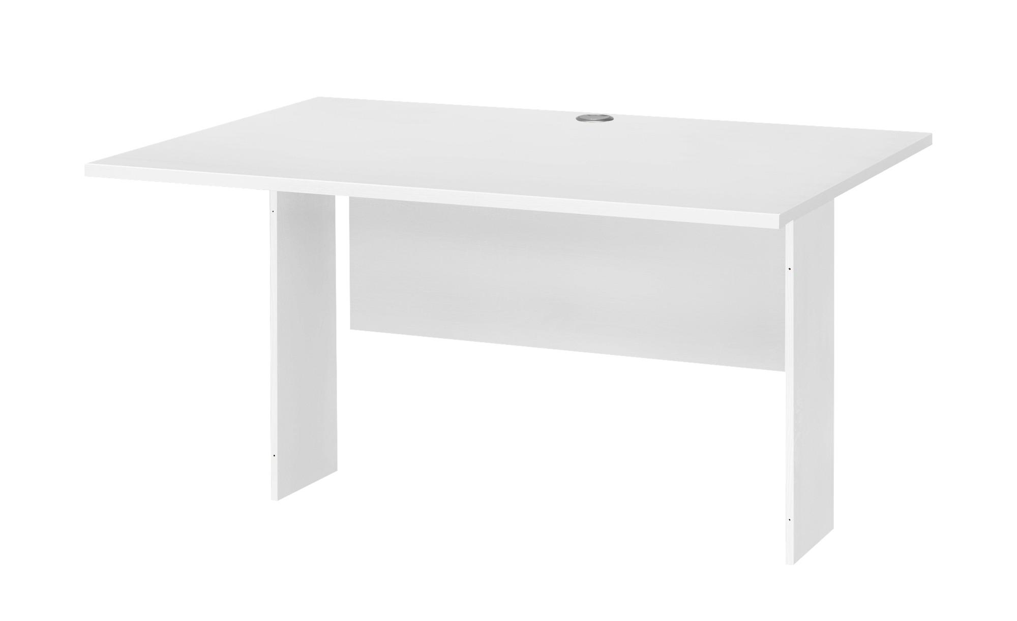 Schreibtischplatte - weiß - 120 cm - 80 cm - Tische > Tischplatten - Möbel Kraft | Büro > Bürotische > Bürotische-Zubehör | Möbel Kraft