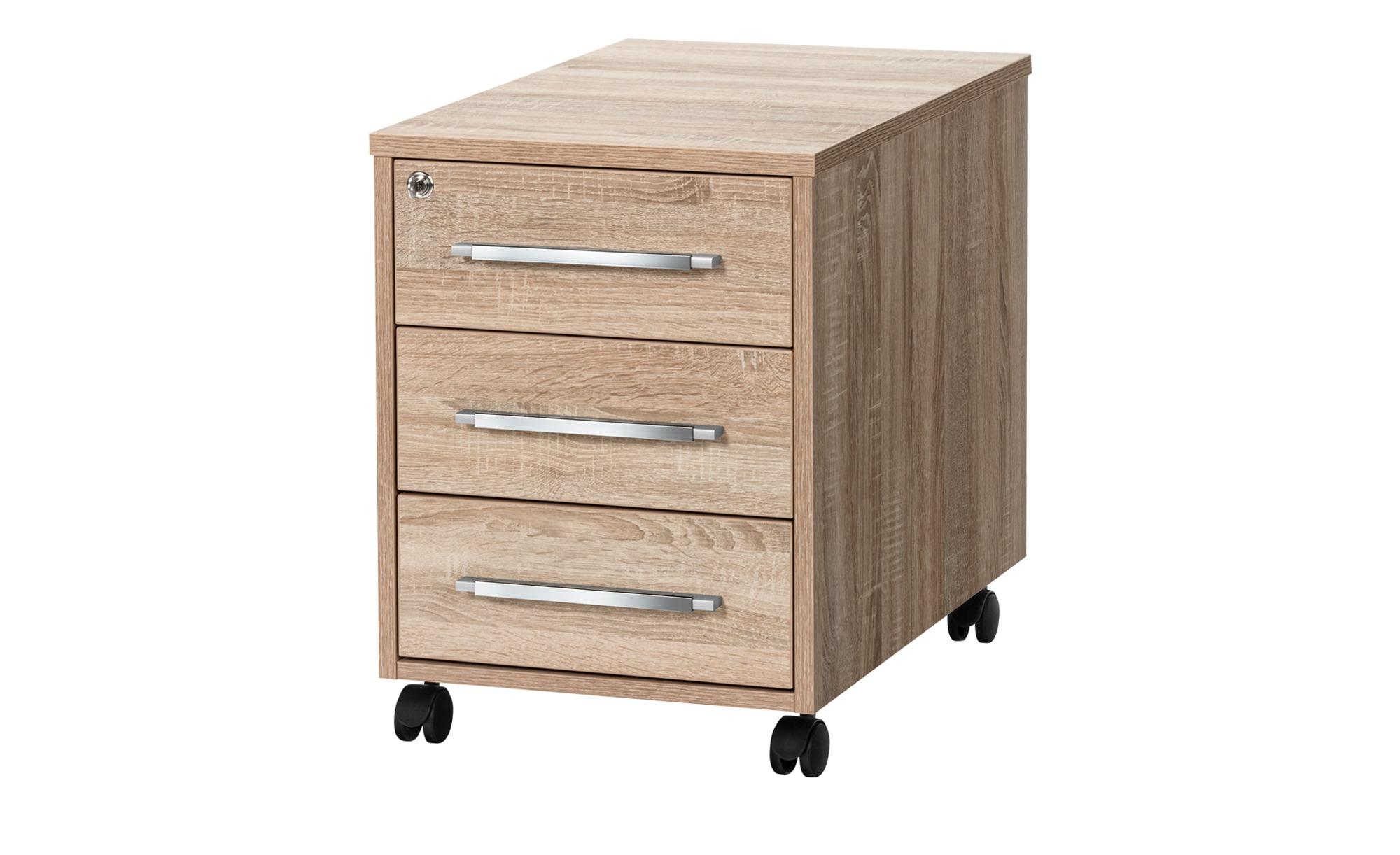 Rollcontainer - holzfarben - 43 cm - 59 cm - 65 cm - Schränke > Rollcontainer - Möbel Kraft | Büro > Büroschränke > Rollcontainer | Sconto