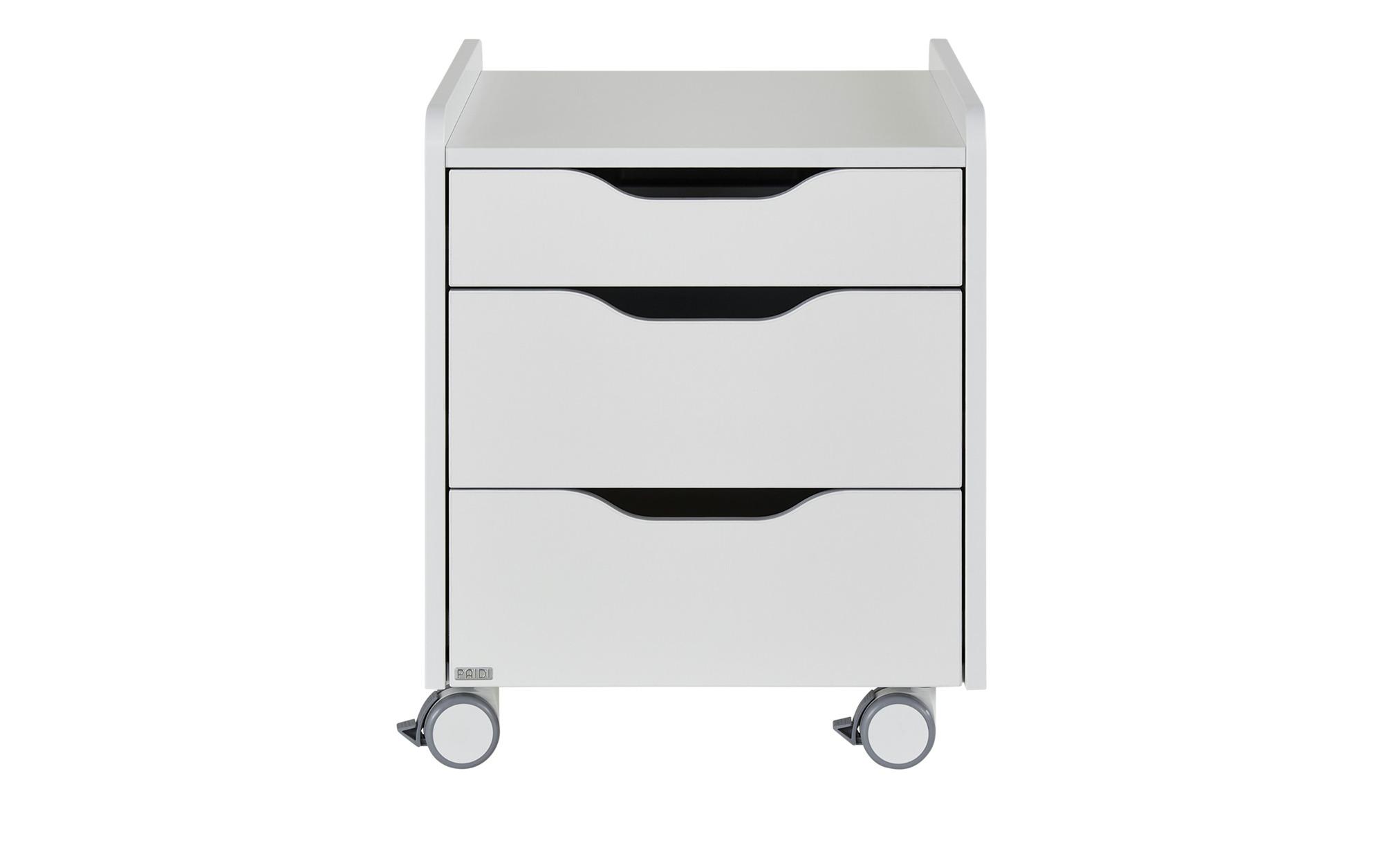 PAIDI Rollcontainer - weiß - 44,3 cm - 53,29 cm - 57,3 cm - Schränke > Rollcontainer - Möbel Kraft | Büro > Büroschränke > Rollcontainer | PAIDI
