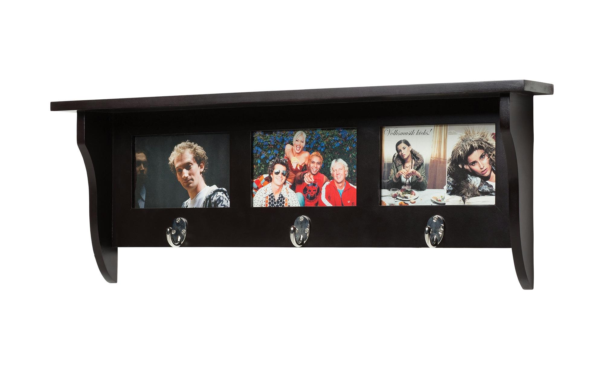 Love it Garderobe mit Bilderrahmen - schwarz - 62 cm - 23,5 cm - 10 cm - Garderoben & Kleiderstangen > Wandgarderoben - Möbel Kraft | Dekoration > Bilder und Rahmen > Rahmen | Love it