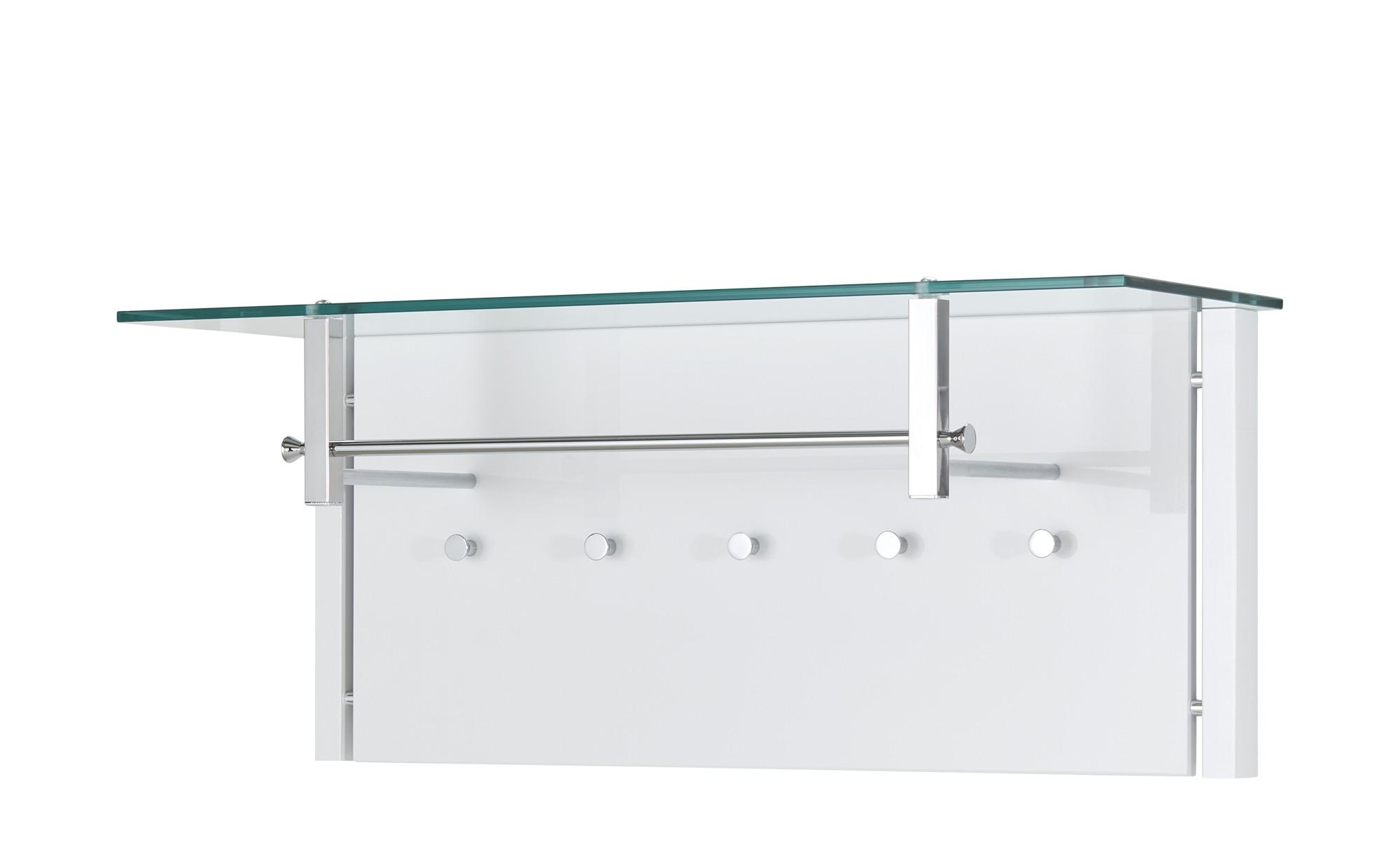 Garderobenpaneel - weiß - 95 cm - 40 cm - 33 cm - Garderoben & Kleiderstangen > Garderoben - Möbel Kraft | Flur & Diele > Garderoben > Garderobenpaneele | Sconto
