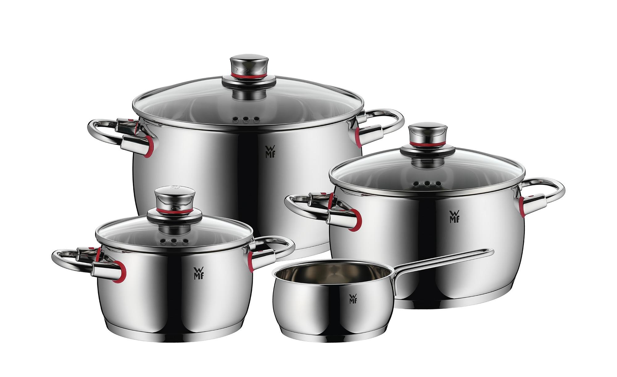 WMF Topfset, 4-teilig  Quality One - silber - Edelstahl - Töpfe & Pfannen & Zubehör > Topf und Pfannen-Sets - Möbel Kraft | Küche und Esszimmer > Kochen und Backen > Töpfe | WMF