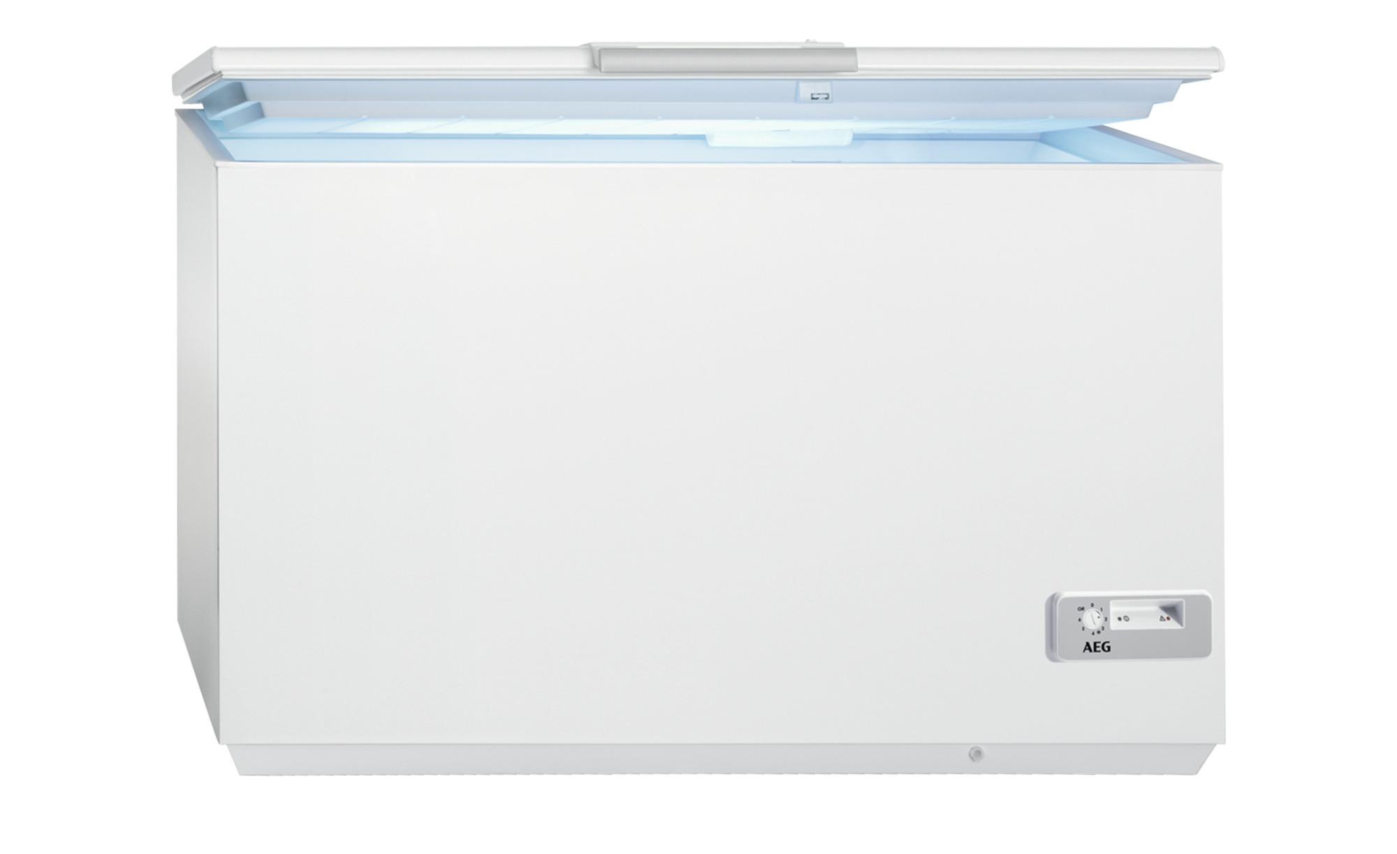 AEG Gefriertruhe  AHB92631LW - weiß - Metall-lackiert, Kunststoff - 133,6 cm - 86,8 cm - 66,8 cm - Elektrogeräte > Gefrierschränke - Möbel Kraft | Küche und Esszimmer > Küchenelektrogeräte | AEG