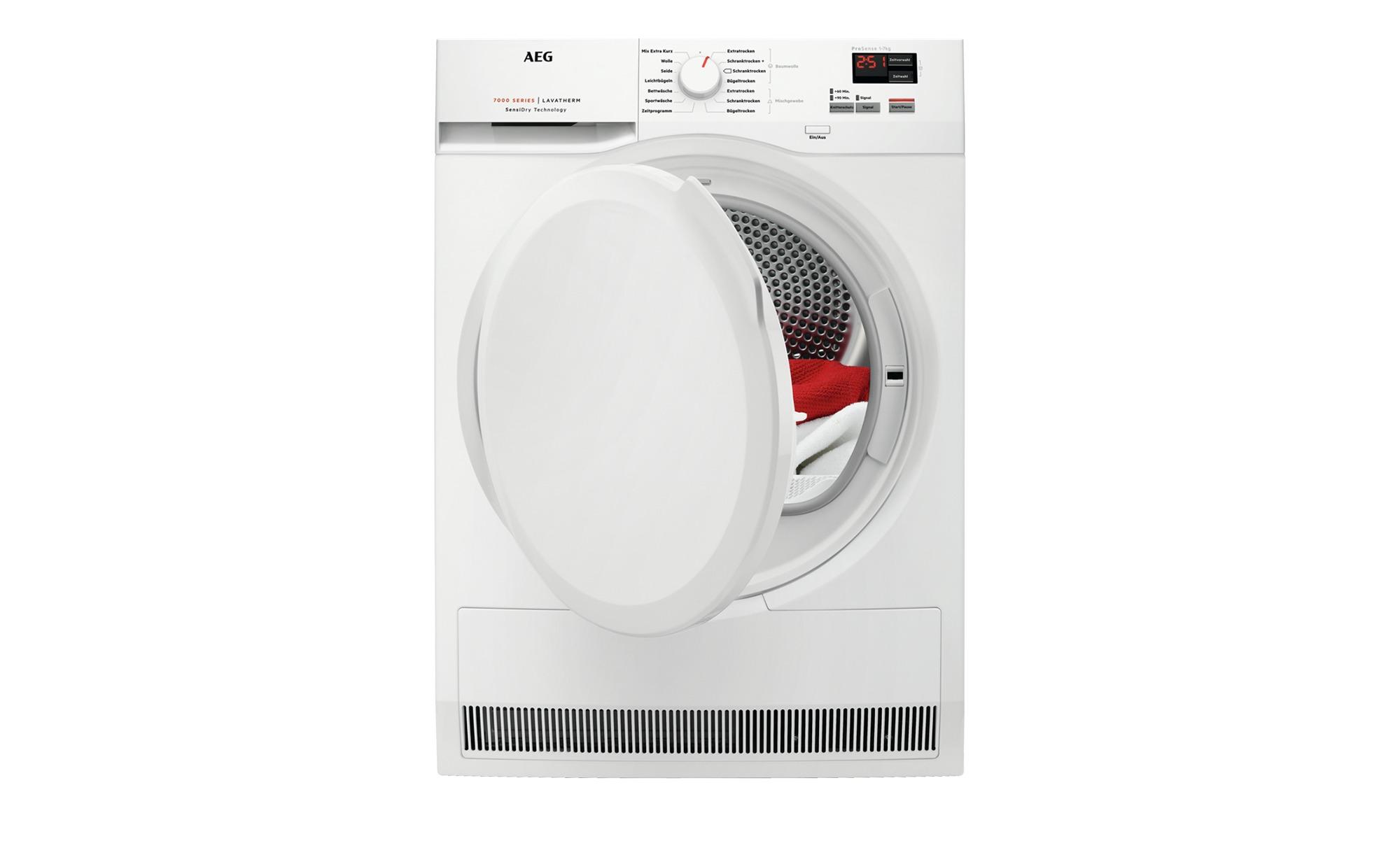 AEG Wärmepumpentrockner  T7DB40470 - weiß - Metall-lackiert, Kunststoff - 60 cm - 85 cm - 66,5 cm - Elektrogeräte > Trockner - Möbel Kraft   Bad > Waschmaschinen und Trockner > Wärmepumpentrockner   AEG
