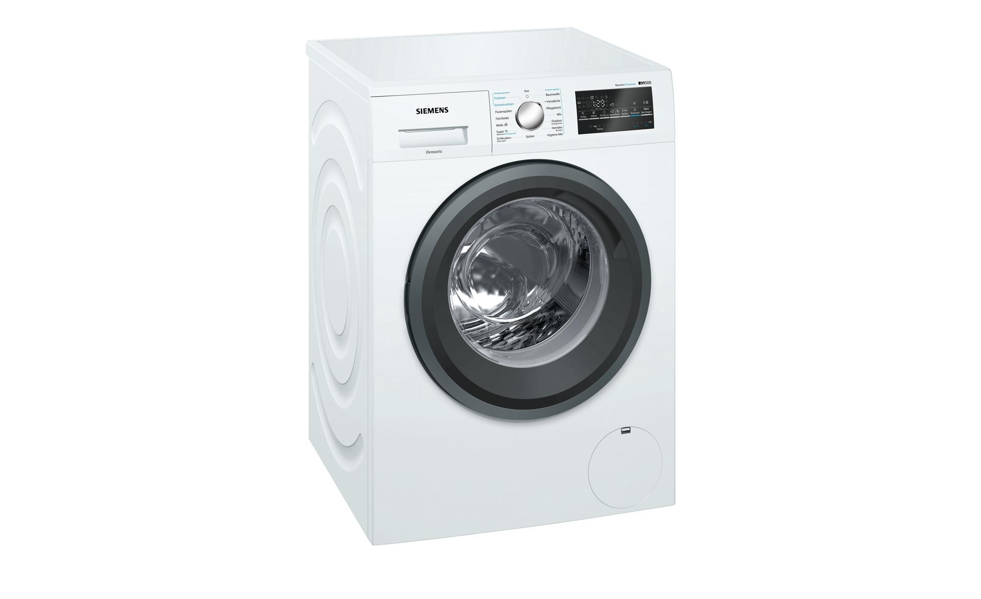 SIEMENS Waschtrockner  WD 15 G 443 - weiß - Kunststoff, Glas , Metall-lackiert - 60 cm - 85 cm - 59 cm - Elektrogeräte > Waschtrockner - Möbel Kraft | Bad > Waschmaschinen und Trockner > Waschtrockner | Glas - Metall | SIEMENS