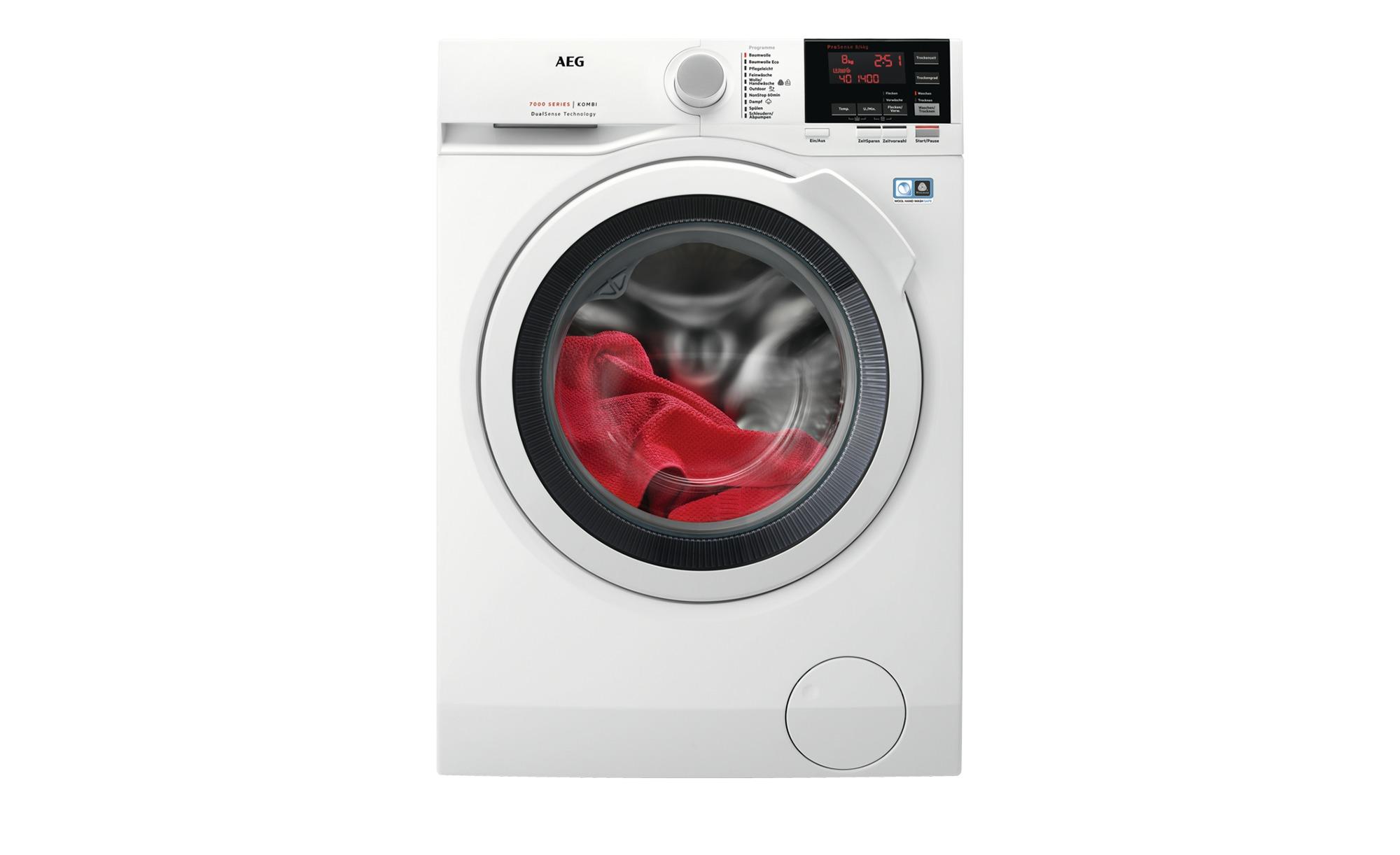 AEG Waschtrockner  L7WB65684 - weiß - Metall-lackiert, Glas , Kunststoff - 59,7 cm - 84,8 cm - 57,6 cm - Elektrogeräte > Waschtrockner - Möbel Kraft | Bad > Waschmaschinen und Trockner > Waschtrockner | AEG