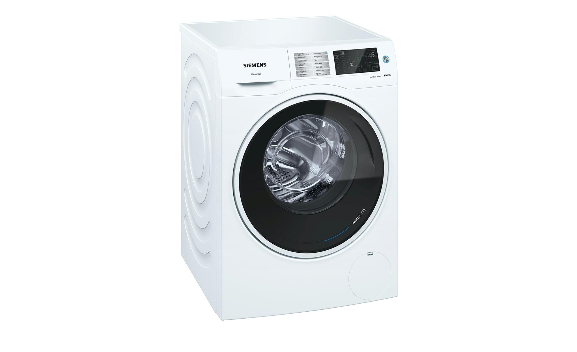 SIEMENS Waschtrockner  WD14U540 - weiß - Metall-lackiert, Kunststoff - 59,8 cm - 84,8 cm - 62 cm - Elektrogeräte > Waschtrockner - Möbel Kraft | Bad > Waschmaschinen und Trockner > Waschtrockner | SIEMENS