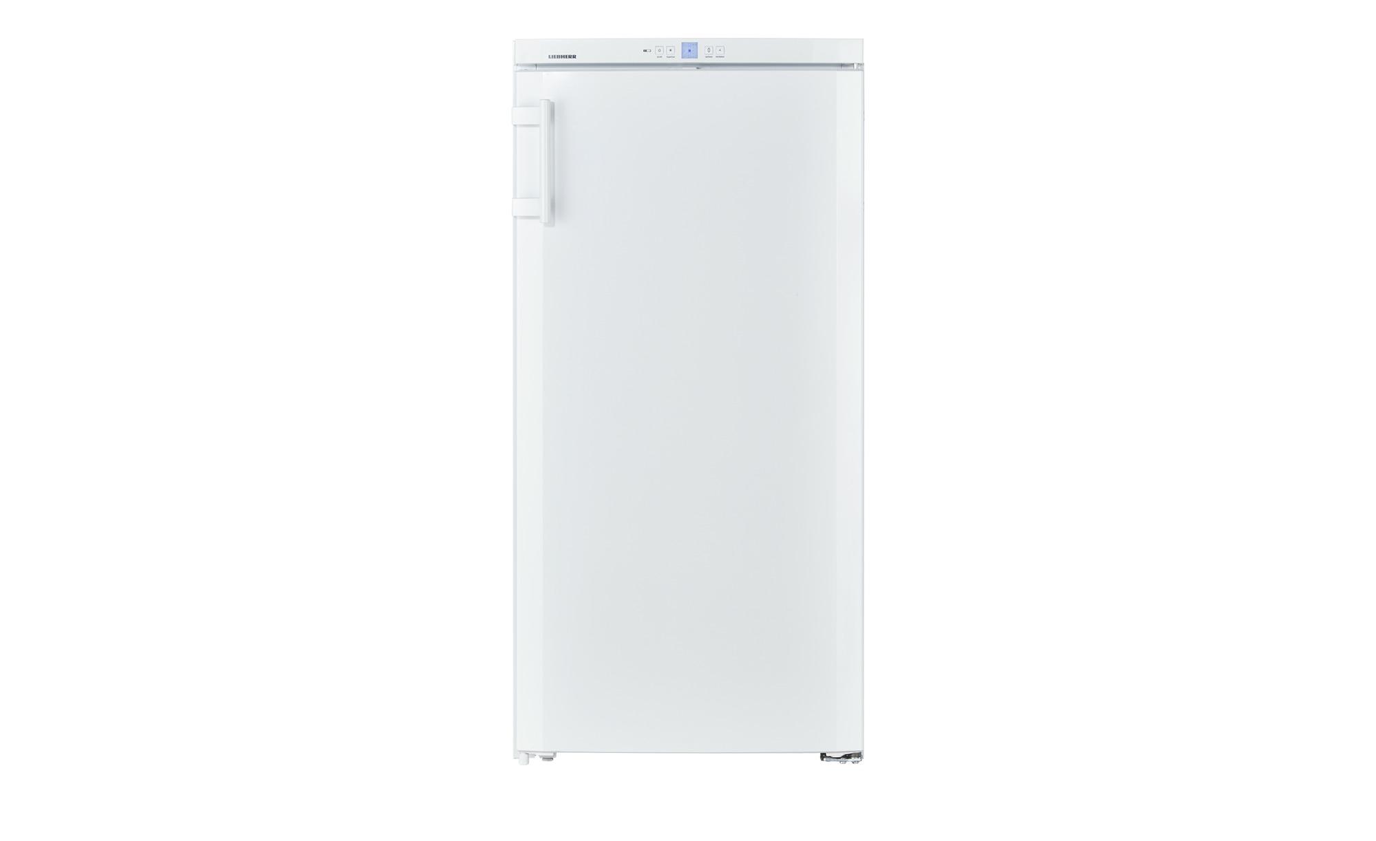 LIEBHERR Standkühlschrank  K2630-20 - weiß - Kunststoff, Glas , Metall-lackiert - 60 cm - 125 cm - 63 cm - Elektrogeräte > Kühlschränke - Möbel Kraft | Küche und Esszimmer > Küchenelektrogeräte > Kühlschränke | Glas - Metall | LIEBHERR