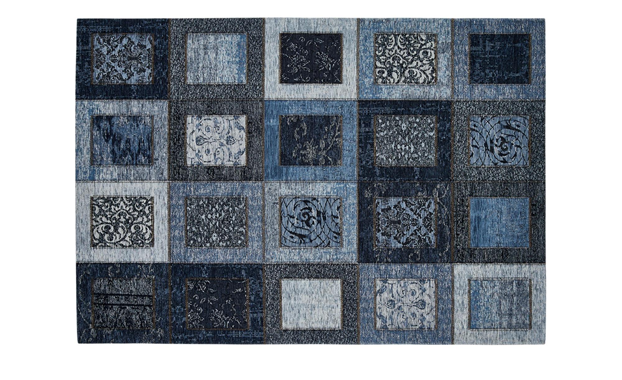 Webteppich - blau - Synthethische Fasern - Teppiche > Wohnteppiche > Orient günstig online kaufen