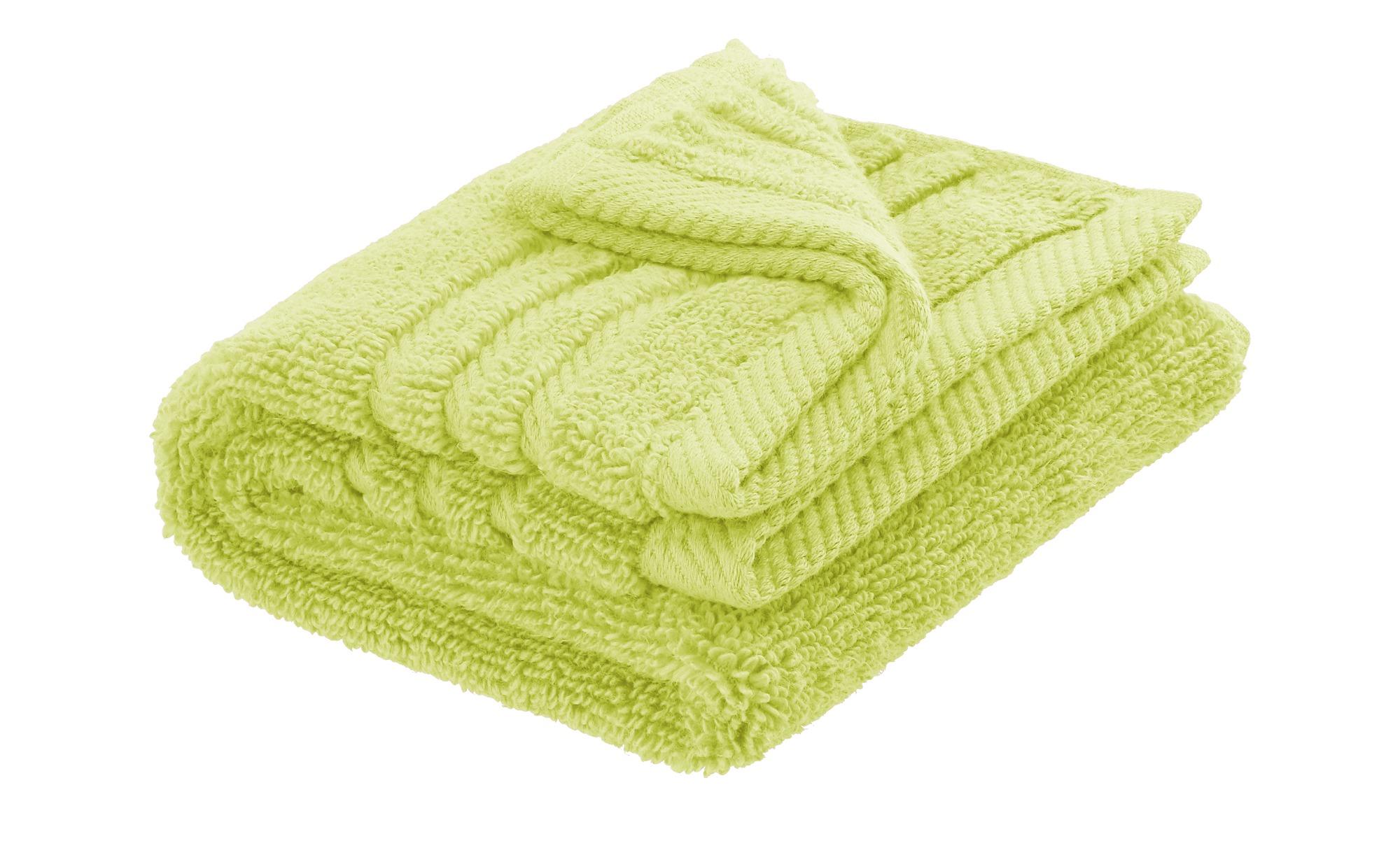 LAVIDA Gästetuch  Soft Cotton - grün - reine Micro-Baumwolle - Heimtextilie günstig online kaufen