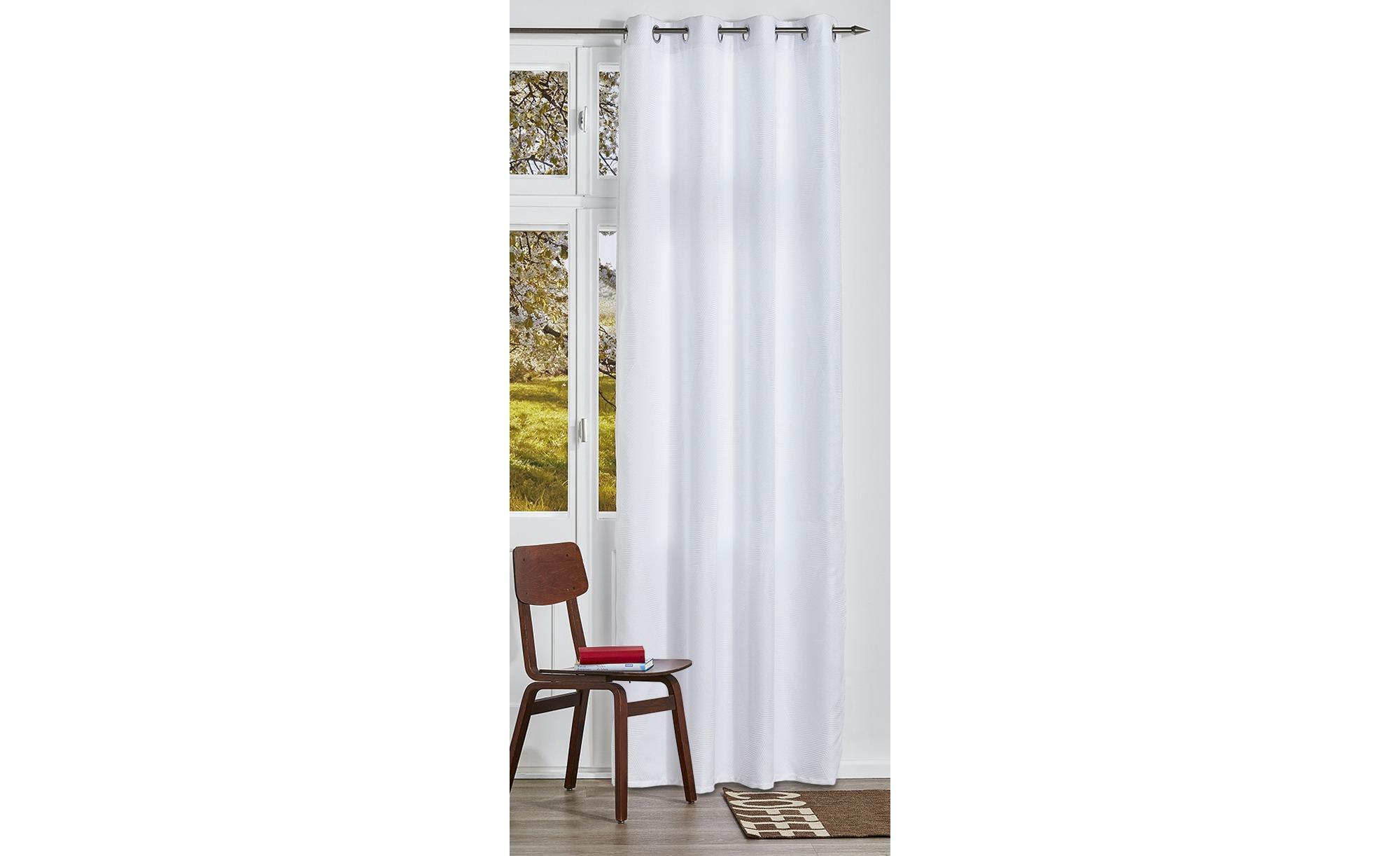 como Ösenschal  Jackie - weiß - 100% Polyester - 140 cm - 245 cm - Gardinen & Vorhänge > Gardinen > Ösenschals - Möbel Kraft | Heimtextilien > Gardinen und Vorhänge > Vorhänge | como
