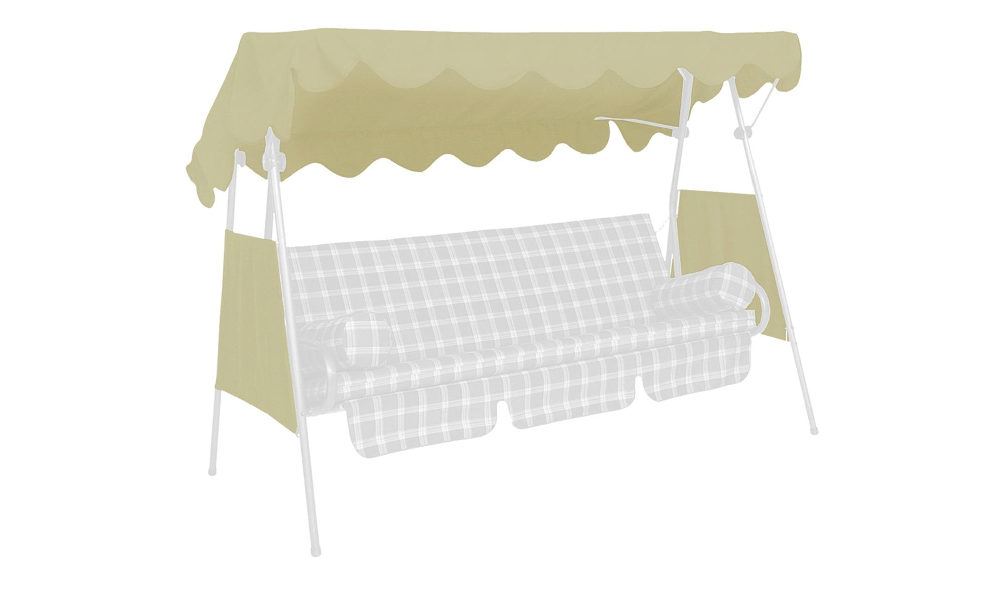 Dach & Seiten für Hollywoodschaukel - beige - 200 cm - 120 cm - Gartenmöbel > Garten-Zubehör > Gartenmöbel Schutzhauben - Möbel Kraft | Garten > Gartenmöbel > Hollywoodschaukeln | Sconto