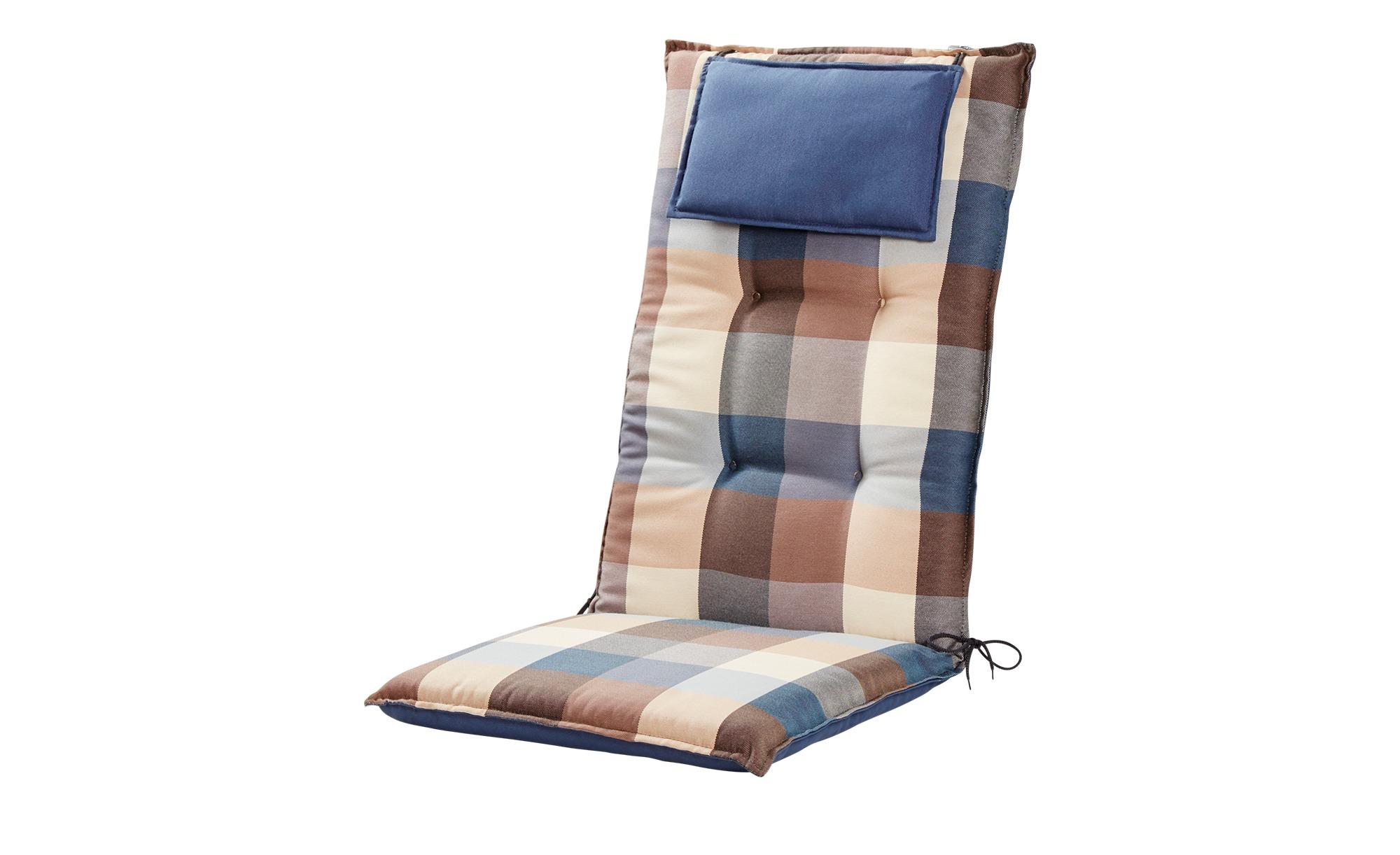 GO-DE Wendeauflage - blau - 50 cm - 7 cm - Garten > Auflagen & Kissen - Möbel Kraft | Garten > Gartenmöbel > Sitzauflagen | GO-DE