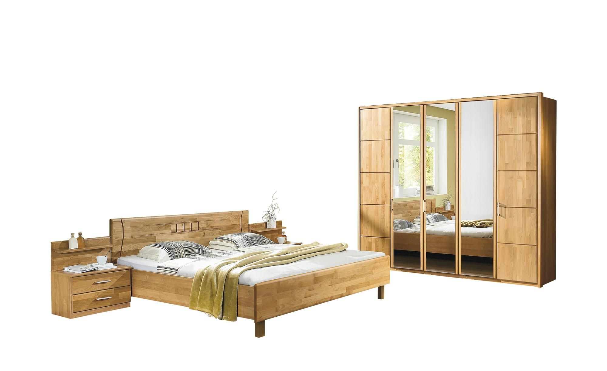 Woodford Komplett-Schlafzimmer 3-teilig Belisa - holzfarben - 256 cm - 216  cm - 58 cm - Komplett-Schlafzimmer - Möbel Kraft