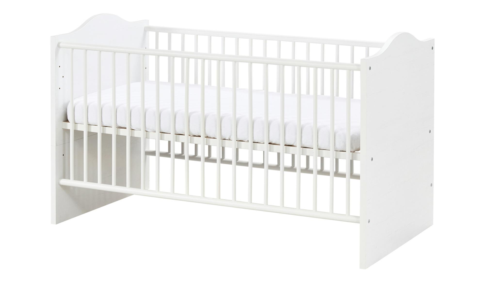 Kinderbett - weiß - 78 cm - 89 cm - 144 cm - Baby > Babymöbel > Babybetten - Möbel Kraft | Kinderzimmer > Kinderbetten > Kinderbetten | Sconto