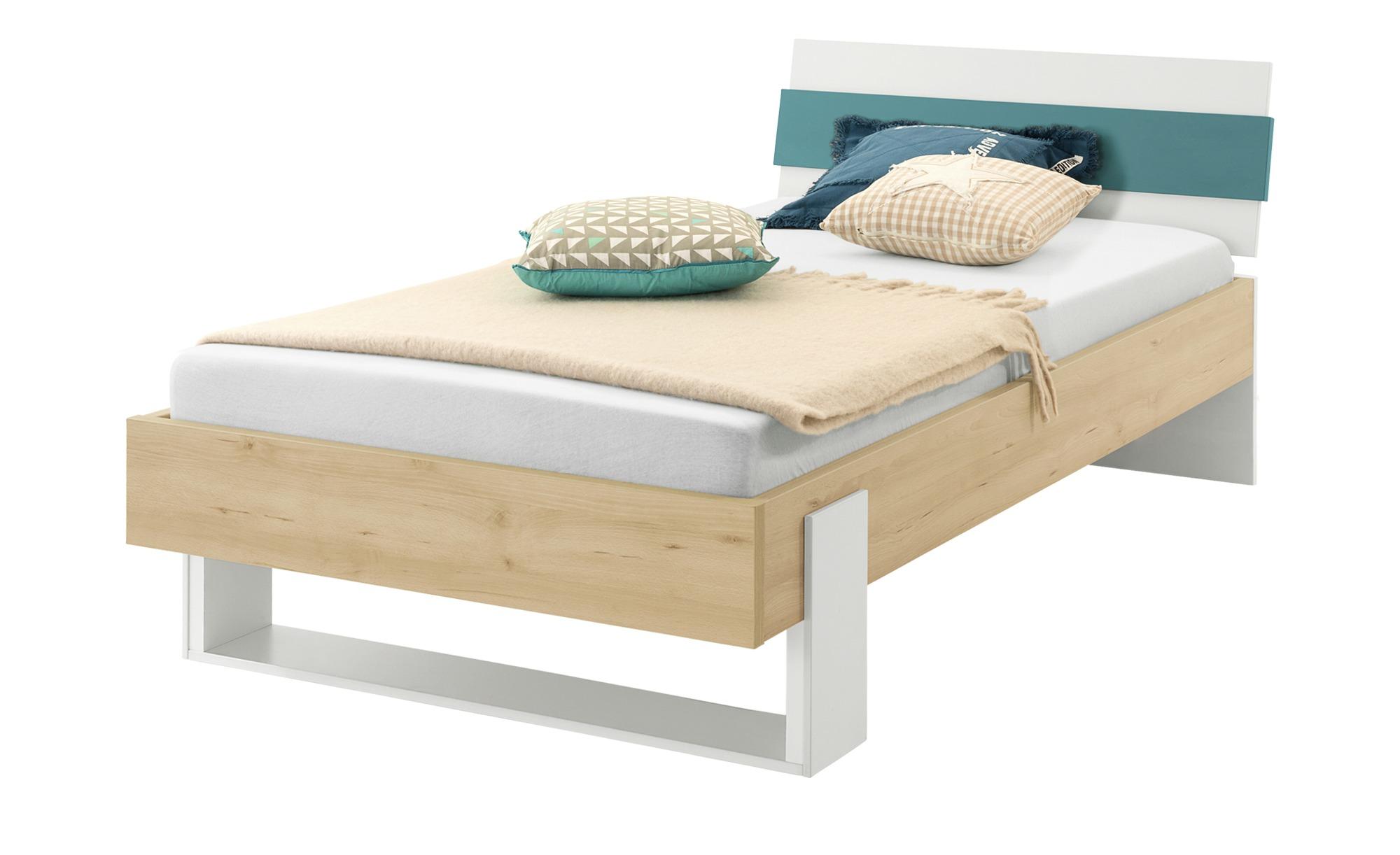 Bett - holzfarben - 108,8 cm - 86 cm - 210 cm - Jugendmöbel > Jugendbetten - Möbel Kraft | Kinderzimmer > Jugendzimmer > Jugendbetten | Sconto