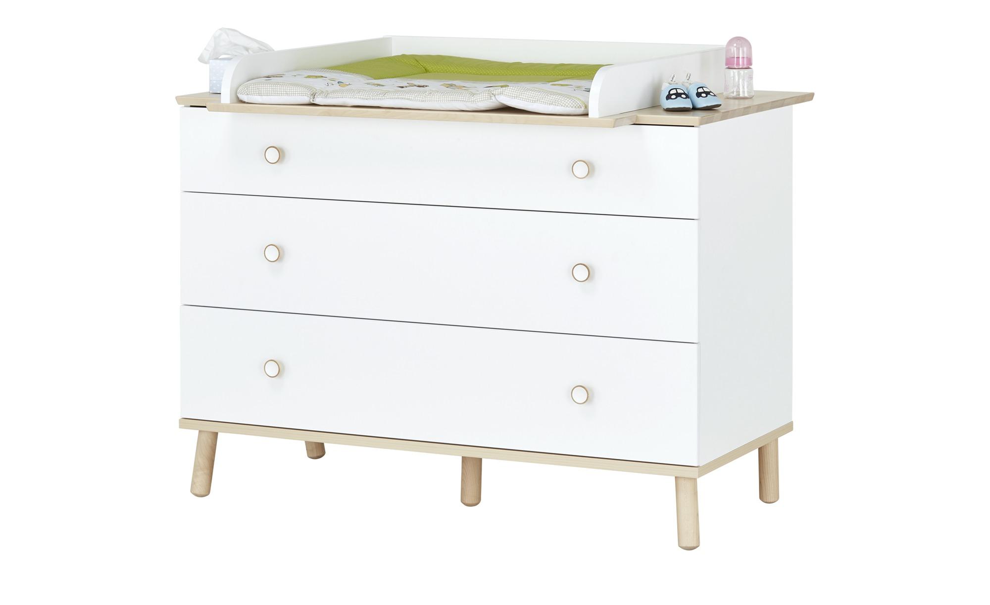 PAIDI Kommode  Ylvie - weiß - 125,1 cm - 90,9 cm - 56,3 cm - Baby > Babymöbel > Wickelkommoden - Möbel Kraft | Kinderzimmer > Babymöbel > Wickelkommoden | PAIDI