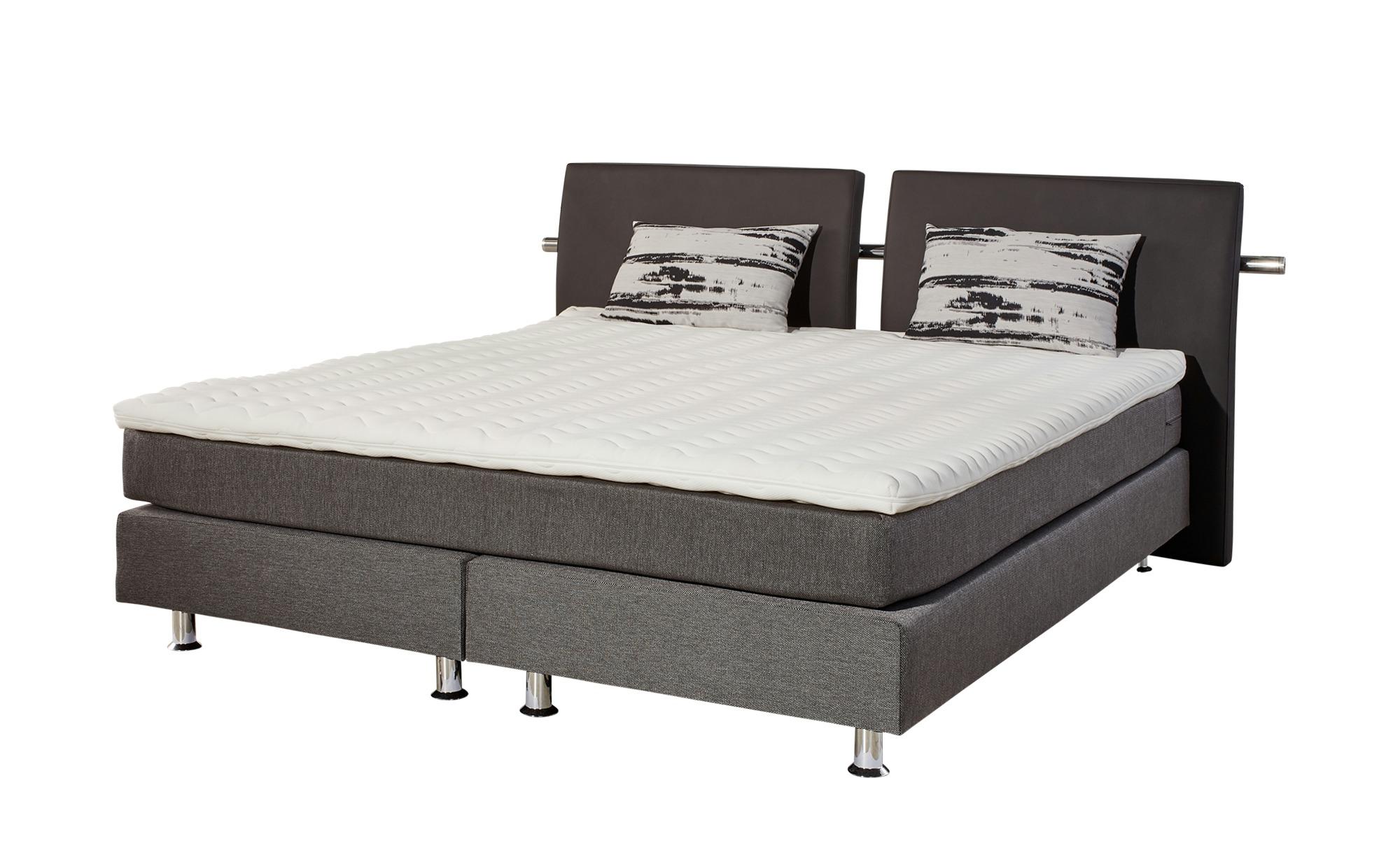 4dd9f64335 Boxspringbett 140x200 grau - grau - 160 cm - 102 cm - Betten >  Boxspringbetten - Möbel Kraft
