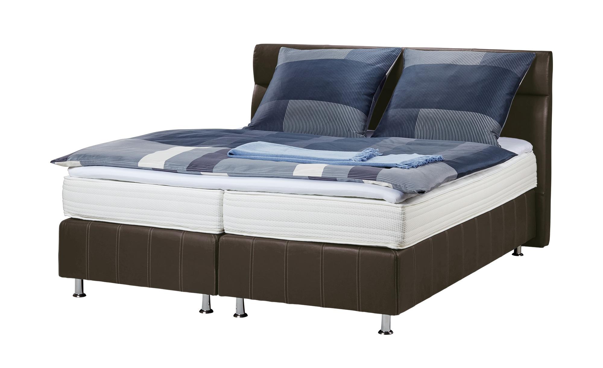 Boxspringbett - braun - 150 cm - 114 cm - Betten > Boxspringbetten - Möbel Kraft | Schlafzimmer > Betten > Boxspringbetten | Braun | Sconto