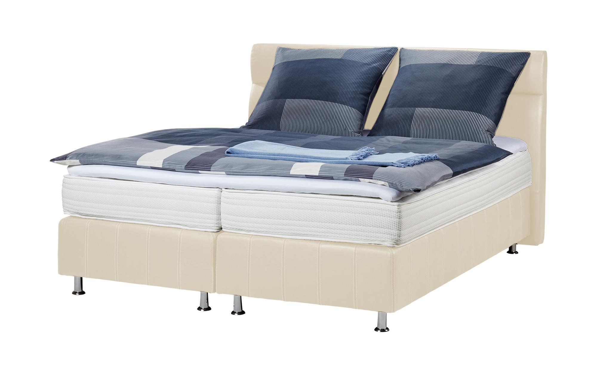 Boxspringbett - beige - 150 cm - 114 cm - Betten > Boxspringbetten - Möbel Kraft | Schlafzimmer > Betten > Boxspringbetten | Beige | Sconto