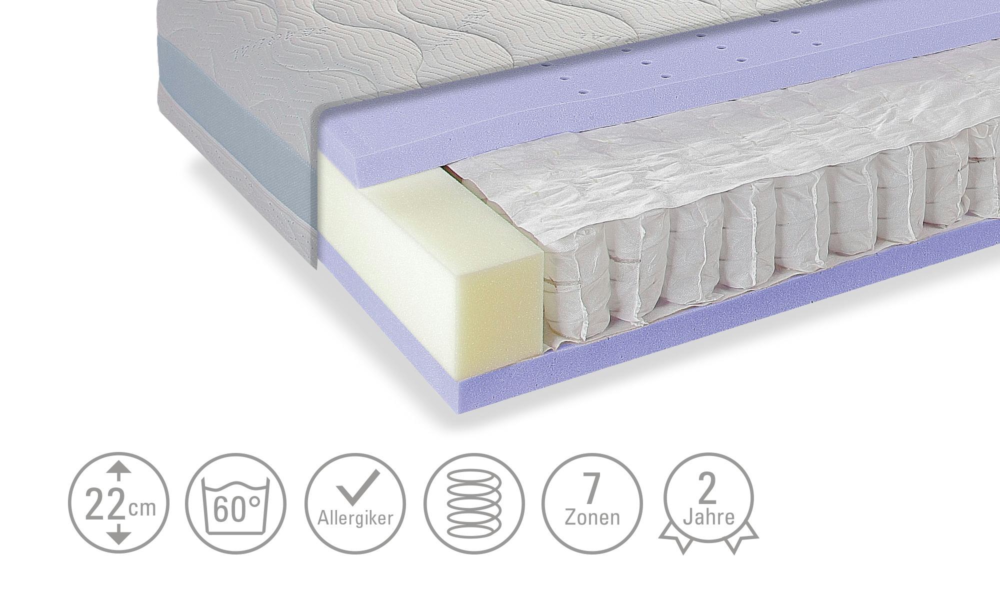 Taschenfederkern-Matratze  Sea Dream TFK Gel - weiß - Matratzen & Lattenros günstig online kaufen
