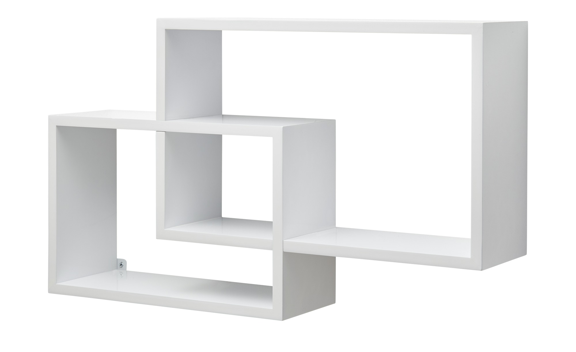 Wandregal 2er-Set Hochglanz weiß, gefunden bei Möbel Kraft