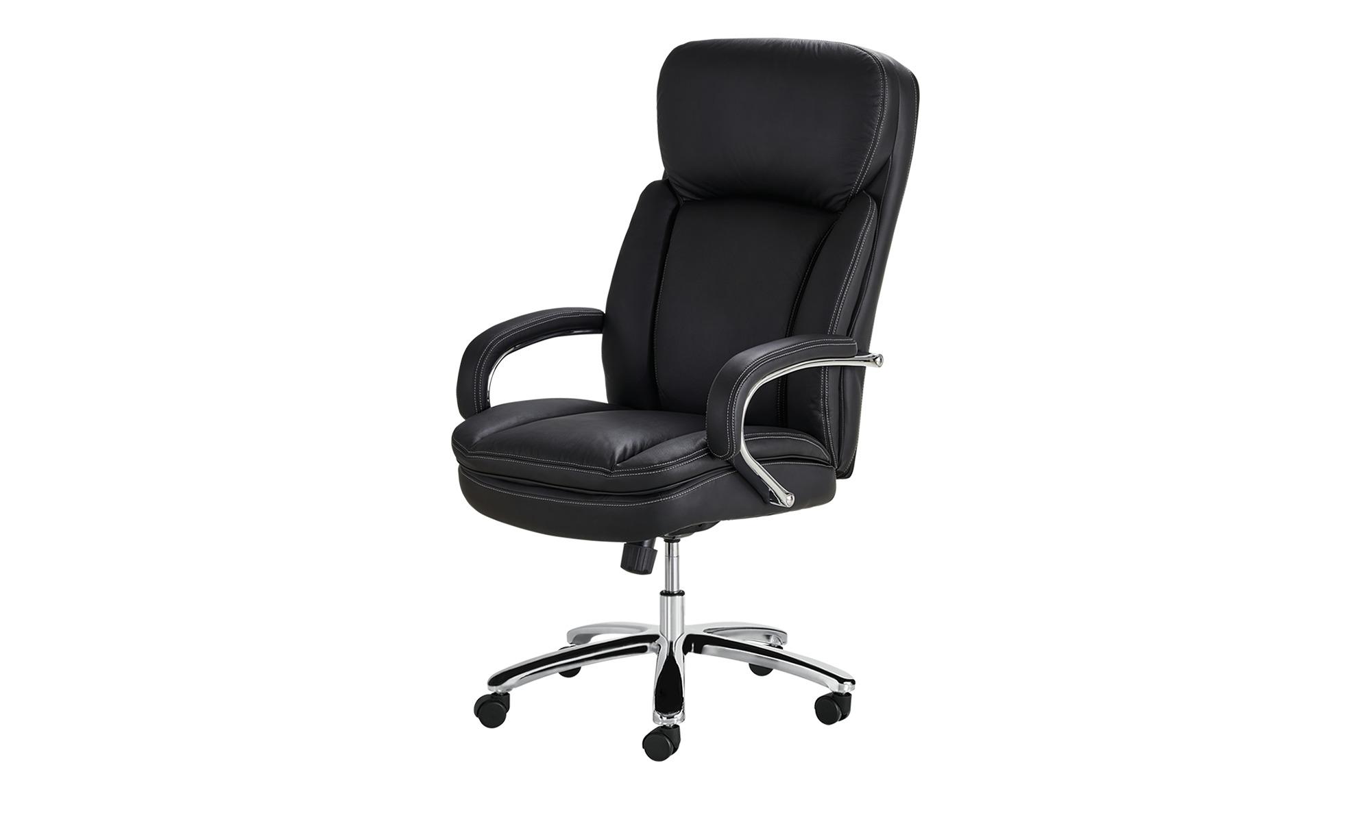 Komfort-Chefsessel - schwarz - Stühle > Bürostühle > Drehstühle - Möbel Kraft   Büro > Bürostühle und Sessel  > Chefsessel   Möbel Kraft