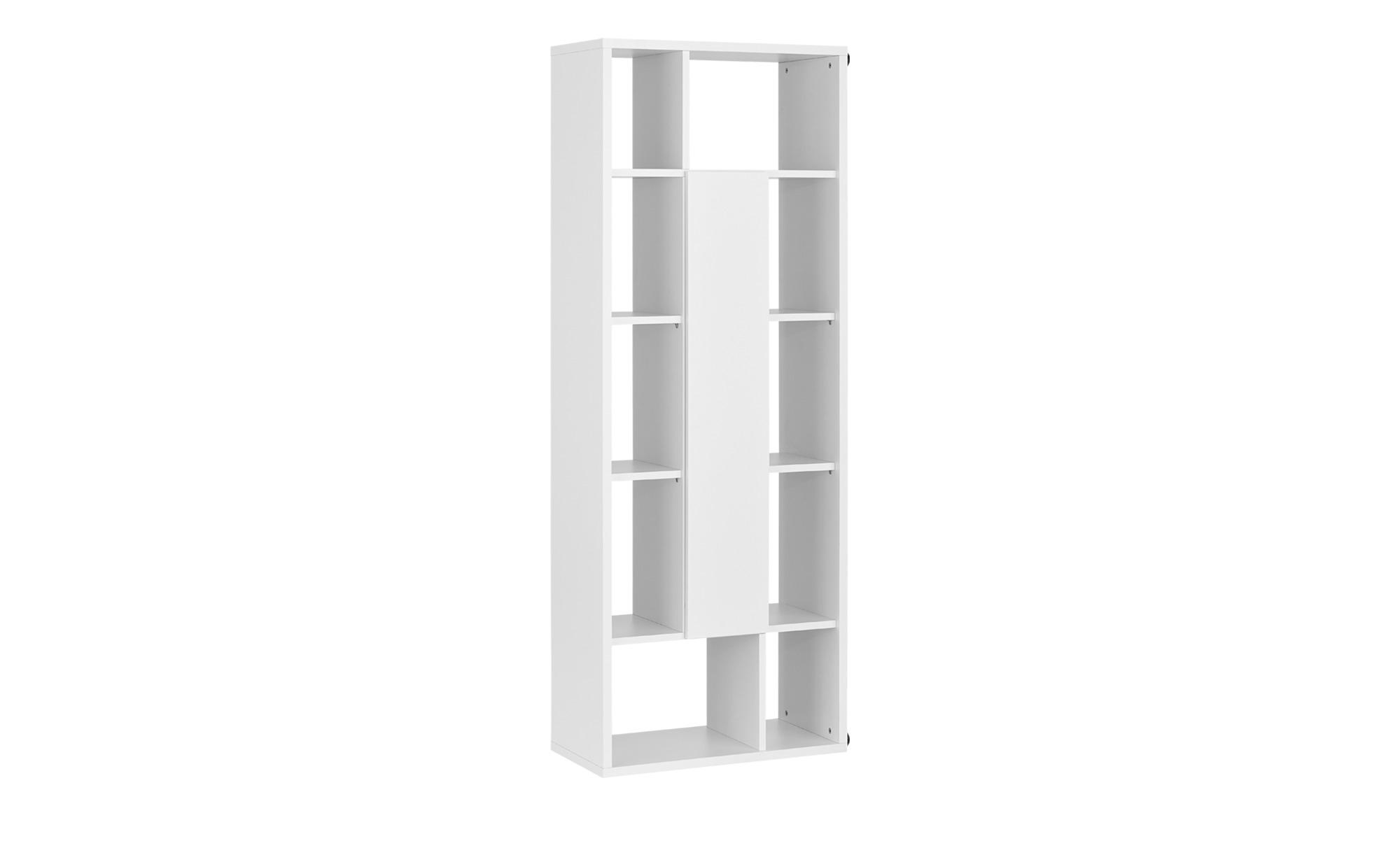 Regal mit Tür - weiß - 70 cm - 187 cm - 36 cm - Regale > Büroregale - Möbel Kraft | Büro > Büroregale | Möbel Kraft