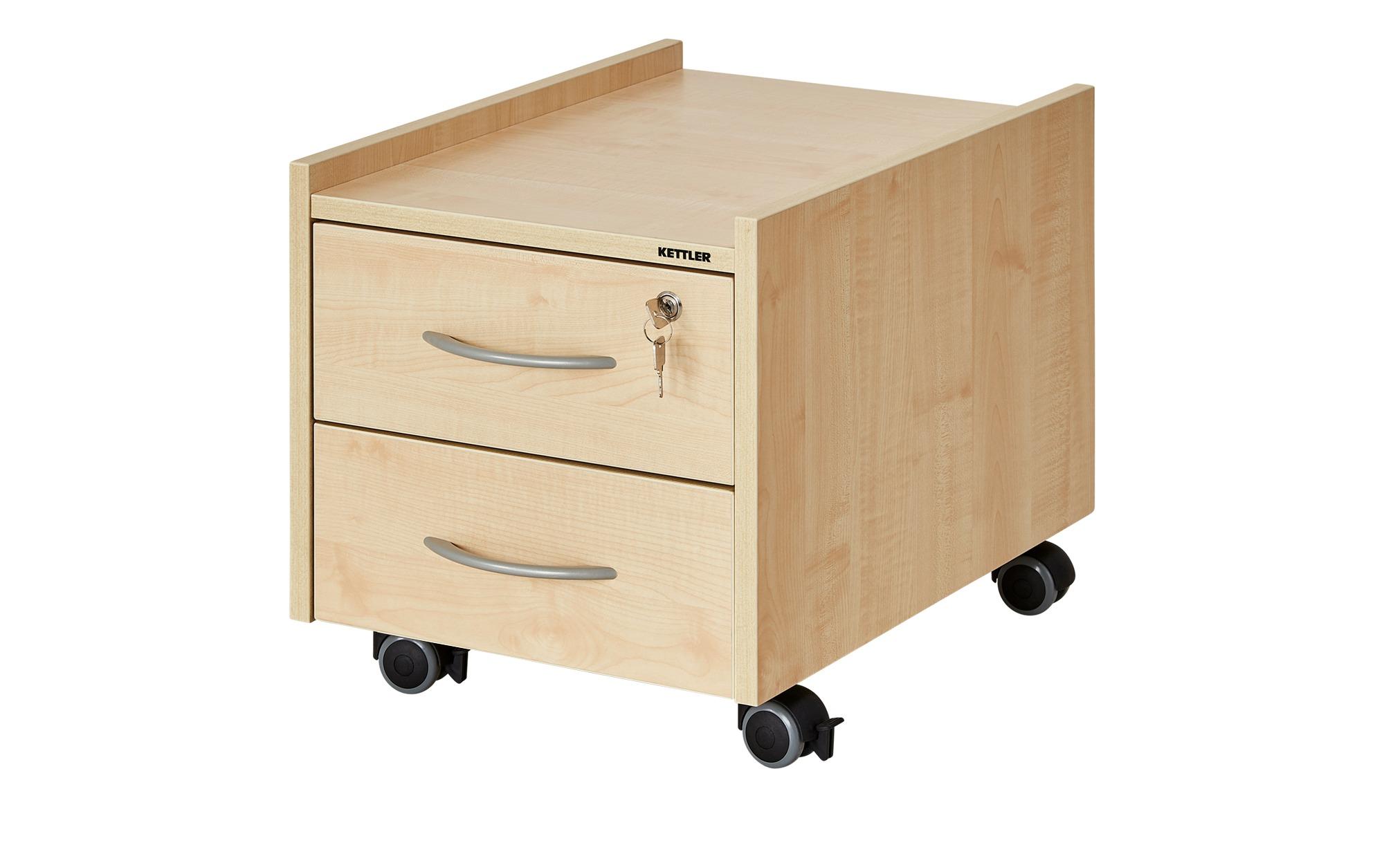 KETTLER Rollcontainer  Sit on Locked - holzfarben - 42 cm - 43 cm - 57 cm - Schränke > Rollcontainer - Möbel Kraft | Büro > Büroschränke > Rollcontainer | KETTLER