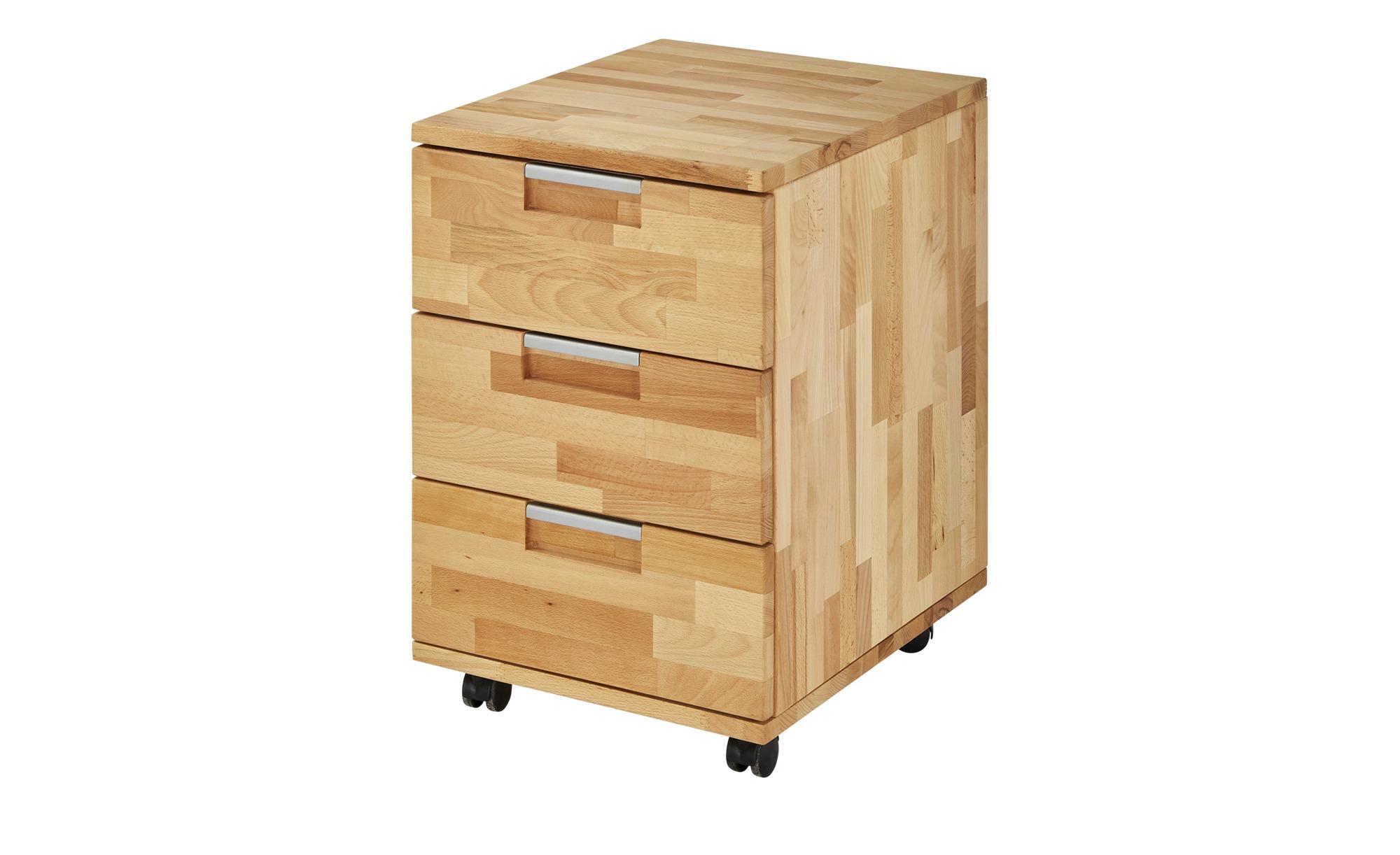 Rollcontainer - holzfarben - 38,5 cm - 59 cm - 46,5 cm - Schränke > Rollcontainer - Möbel Kraft | Büro > Büroschränke > Rollcontainer | Möbel Kraft