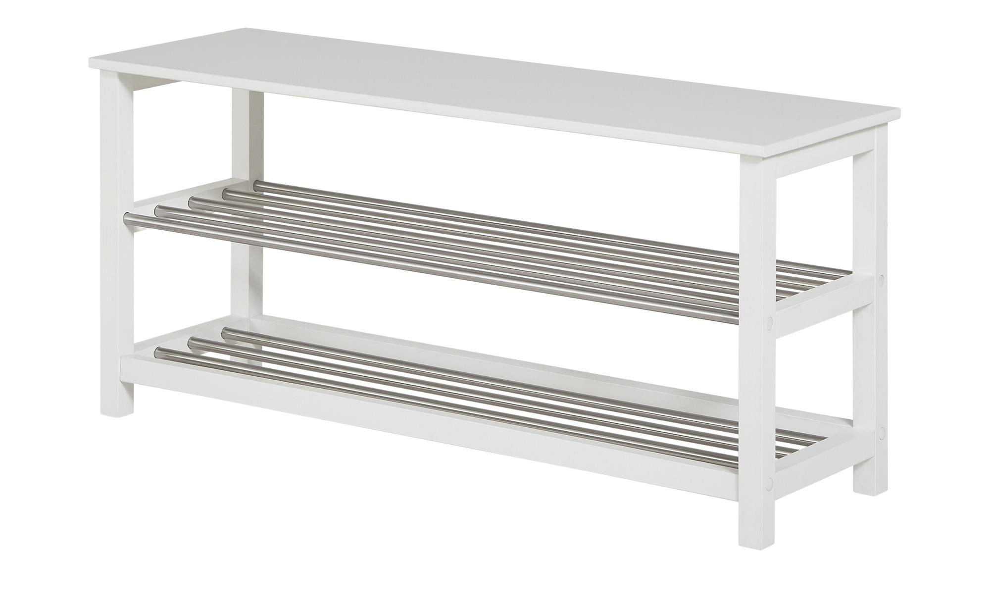 Schuhbank - weiß - Garderoben & Kleiderstangen > Schuhgarderoben & Schränke günstig online kaufen