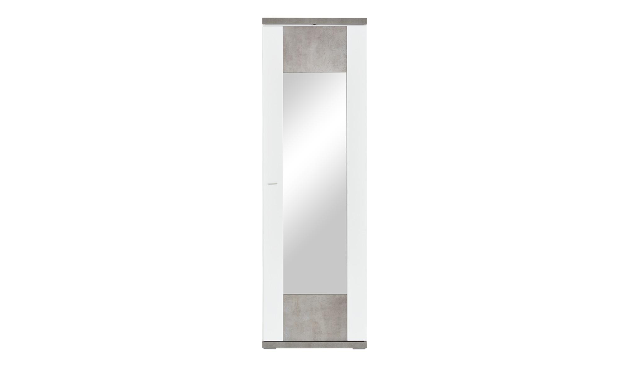 Dielenschrank - weiß - 65 cm - 207 cm - 42 cm - Schränke > Dielenschränke - Möbel Kraft | Flur & Diele > Mehrzweckschränke | Sconto