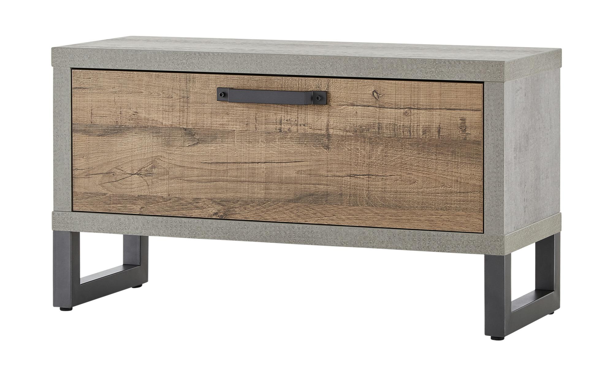 Garderobenbank - holzfarben - 90 cm - 50 cm - 35 cm - Bänke > Einzelbänke - Möbel Kraft | Flur & Diele > Garderoben > Garderobenbänke | Möbel Kraft