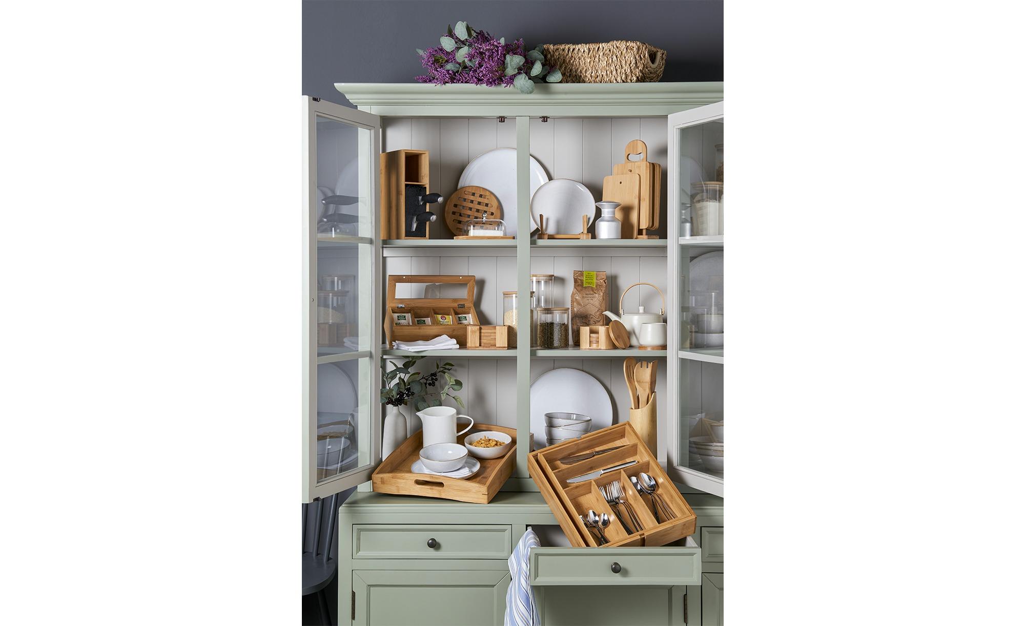 KHG Messerblock - holzfarben - 9 cm - 21,5 cm - Küchenmesser > Messerblöcke & Messersets - Möbel Kraft | Küche und Esszimmer > Küchen-Zubehör > Halter und Haken | KHG