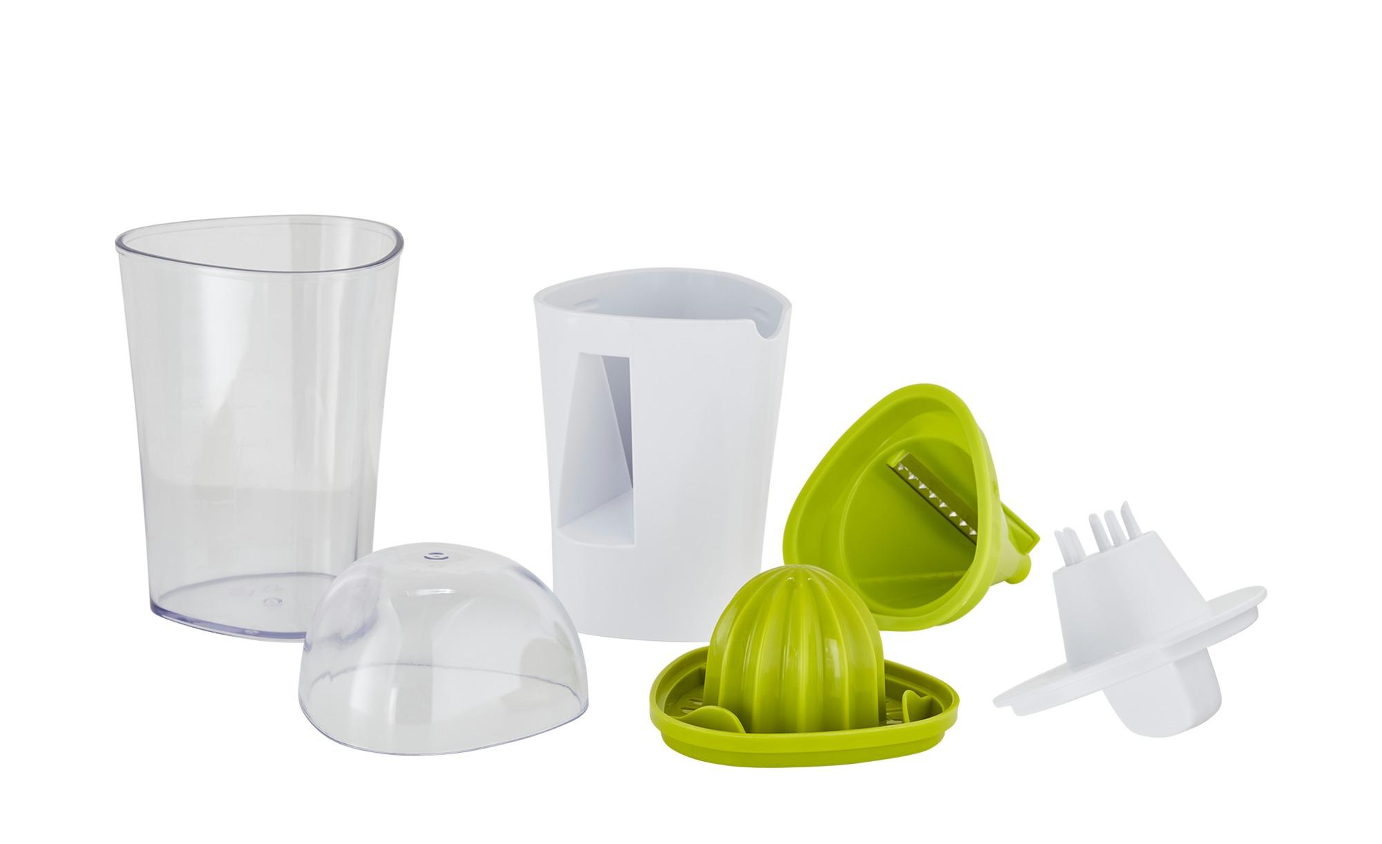 KHG 2in1 Saftpresse/Gemüseschneider - grün - Kunststoff - 9,8 cm - 9,7 cm - günstig online kaufen