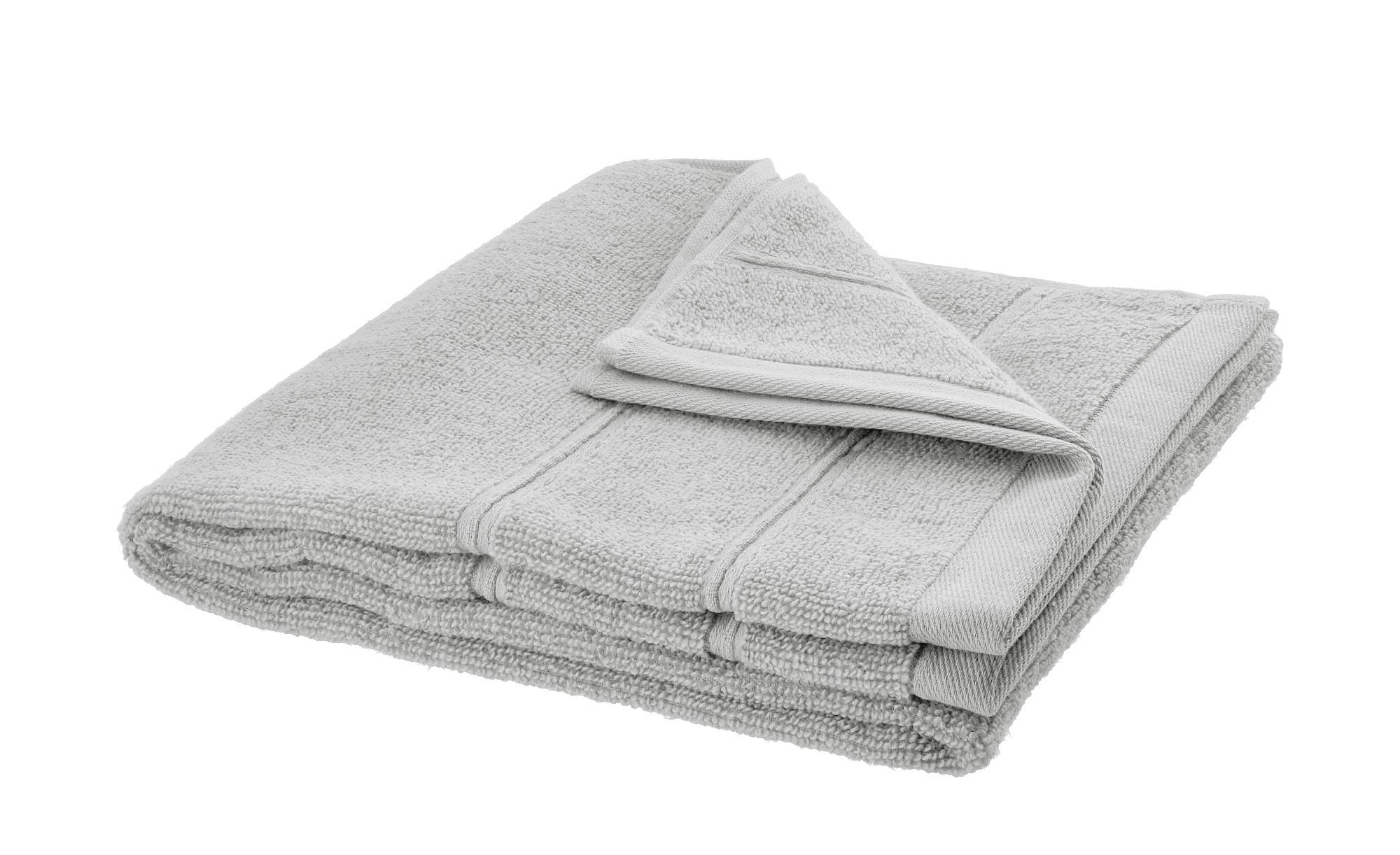 HOME STORY Handtuch  Lifestyle - silber - reine Baumwolle - 50 cm - Heimtextilien > Badtextilien und Zubehör > Handtücher - Möbel Kraft | Bad > Handtücher | HOME STORY