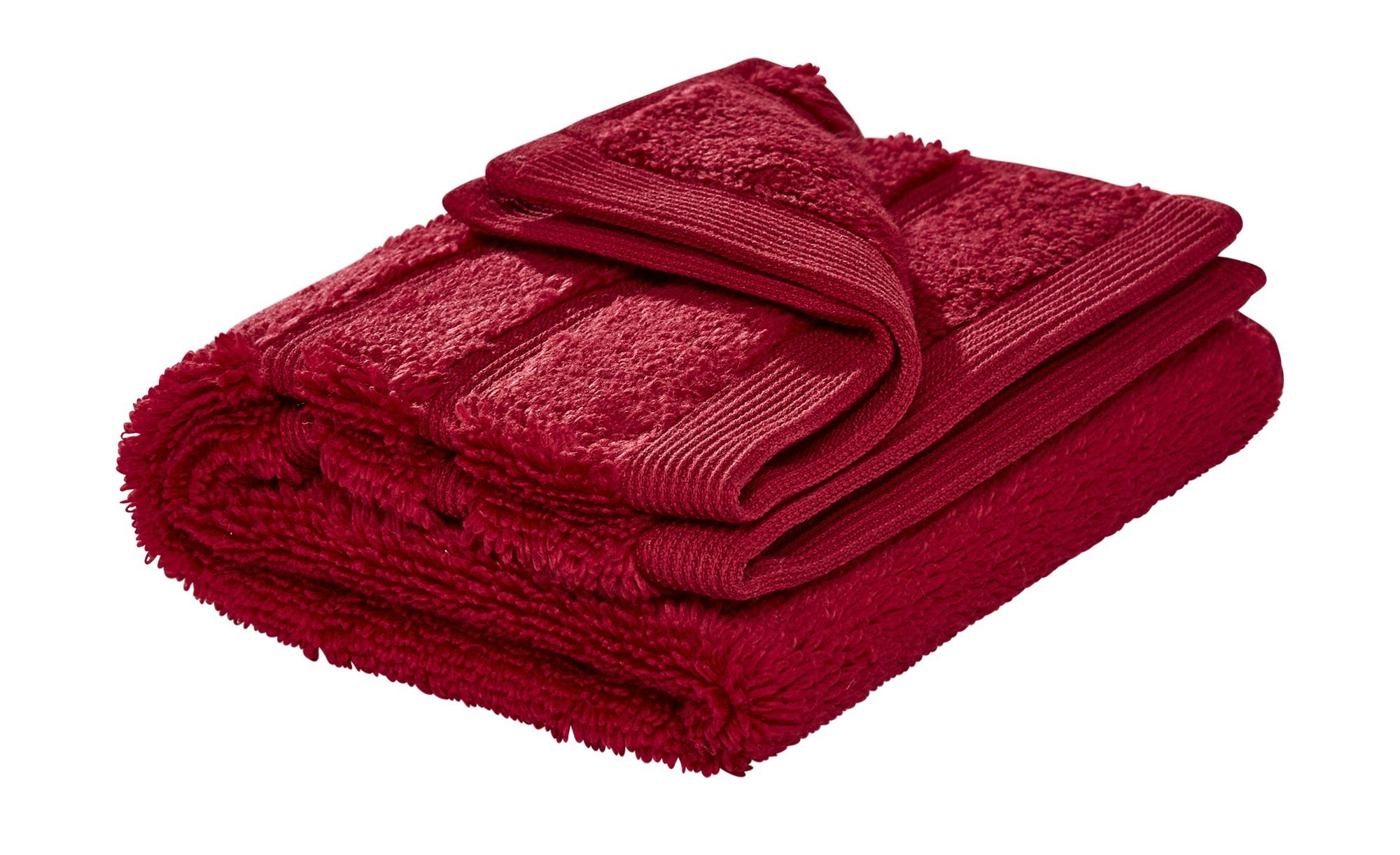 HOME STORY Gästetuch  Das neue Kuschel Wuschel - rot - 100% reine Baumwolle - 30 cm - Heimtextilien > Badtextilien und Zubehör > Handtücher - Möbel Kraft | Bad > Handtücher | HOME STORY