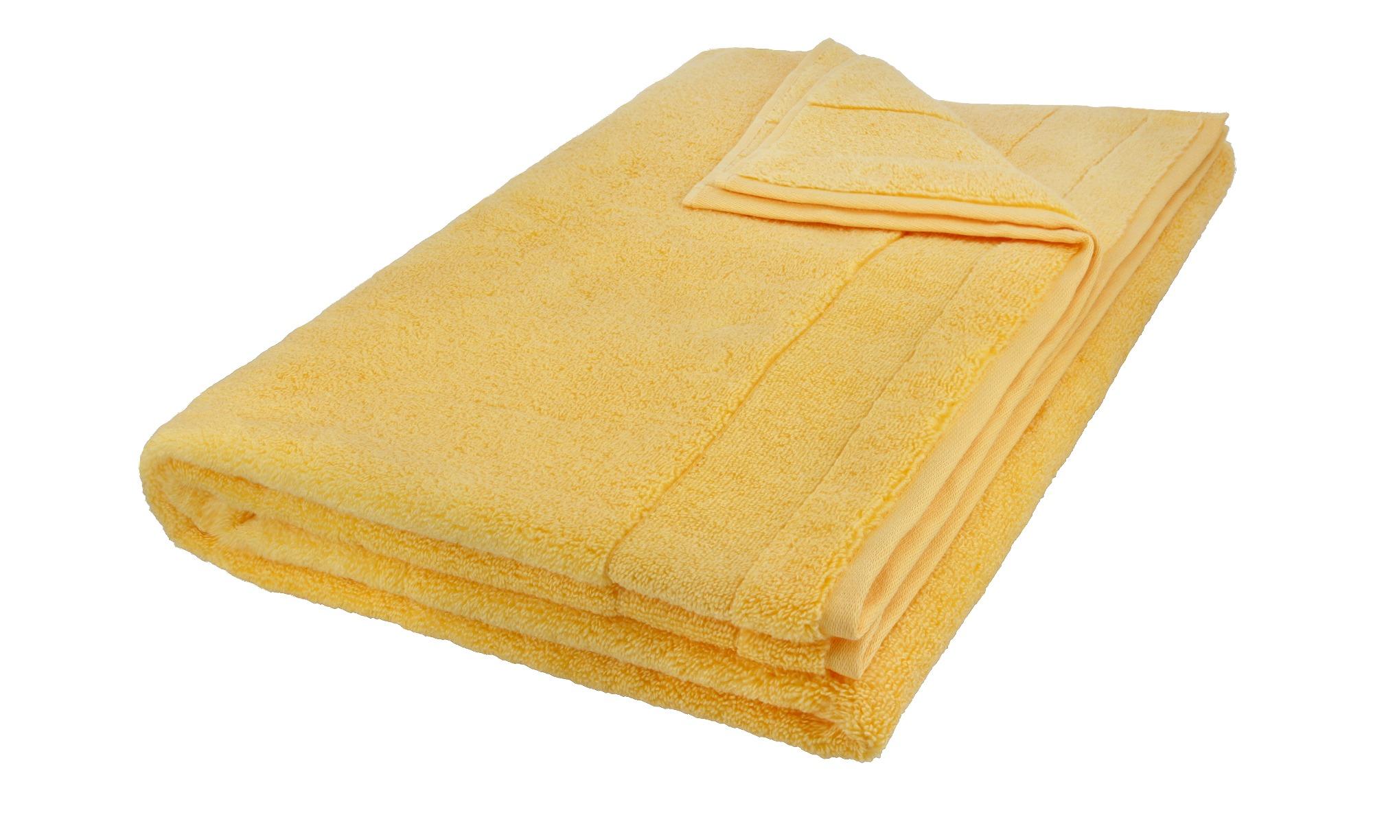 VOSSEN Badetuch  Cloud - gelb - 100% Baumwolle - 100 cm - Heimtextilien > Badtextilien und Zubehör > Handtücher - Möbel Kraft | Bad > Handtücher > Badetücher | VOSSEN