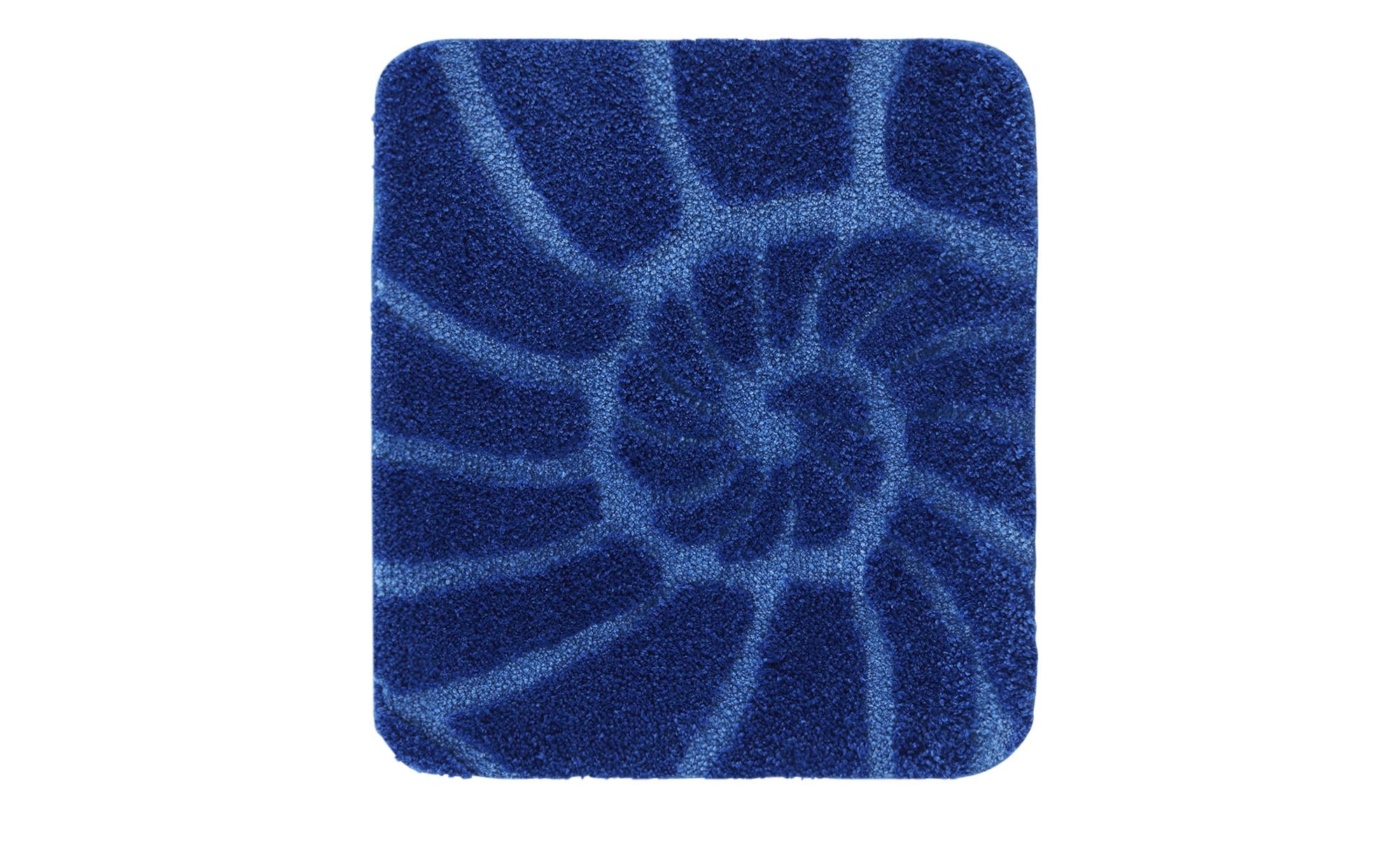 Kleine Wolke Badteppich  Muschel - blau - 100% Polyester - 50 cm - 18 - 12 - Heimtextilien > Badtextilien und Zubehör > Badematten & Badvorleger - Möbel Kraft | Bad > Badgarnituren > Läufer & Matten | Kleine Wolke